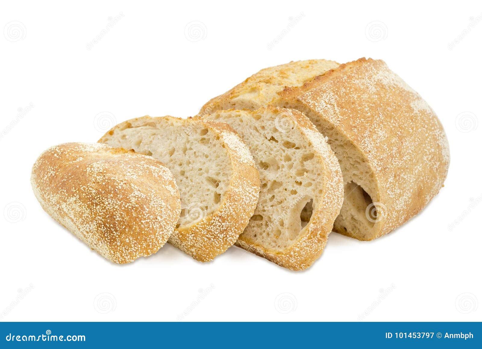 Частично отрезанный хлеб sourdough пшеницы с отрубями