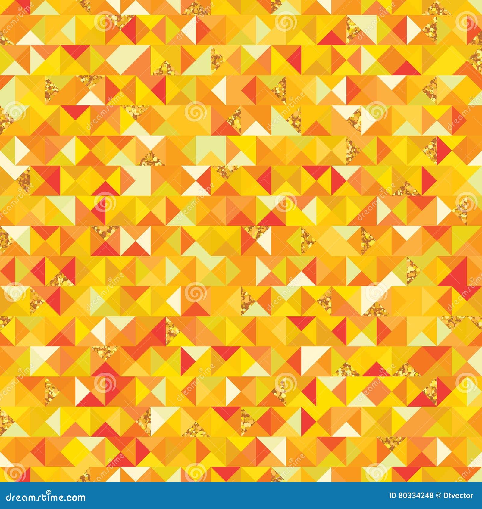 Части giltter треугольника картина золотой безшовная