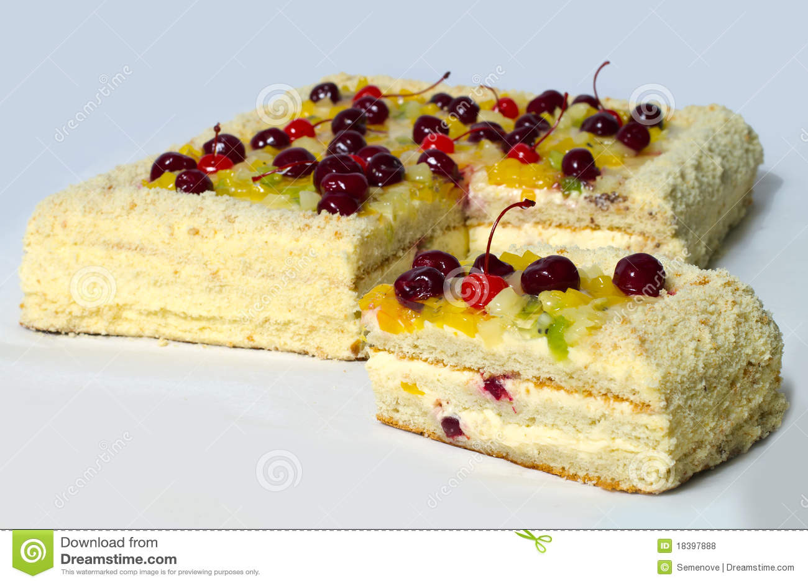 часть вишни торта