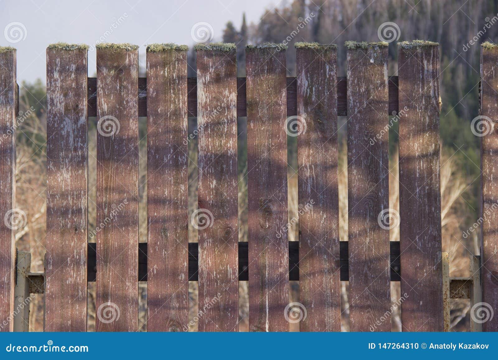 Часть деревянной загородки
