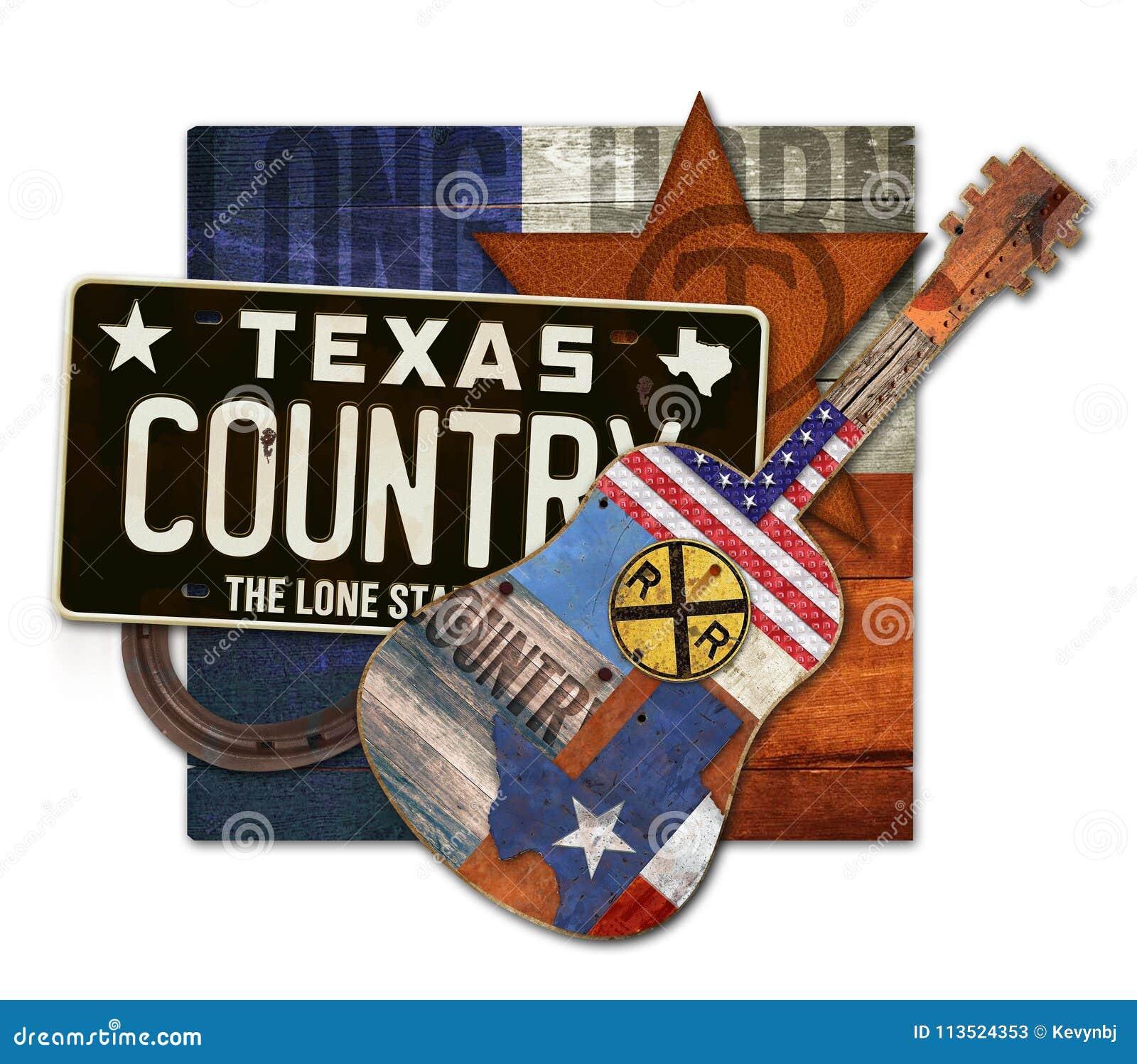 Часть искусства музыки кантри Техаса