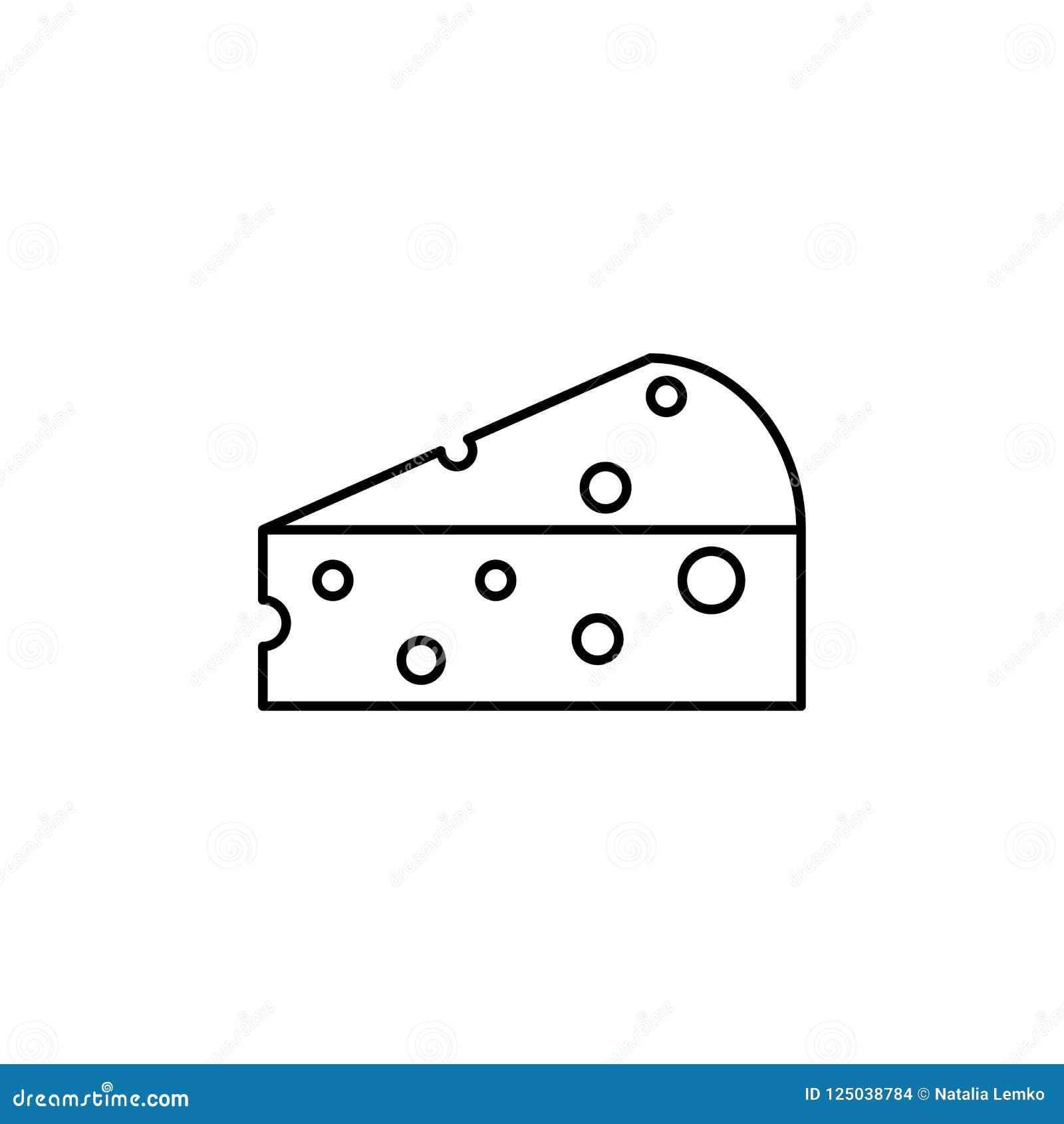 Часть сыра еды значка сыра