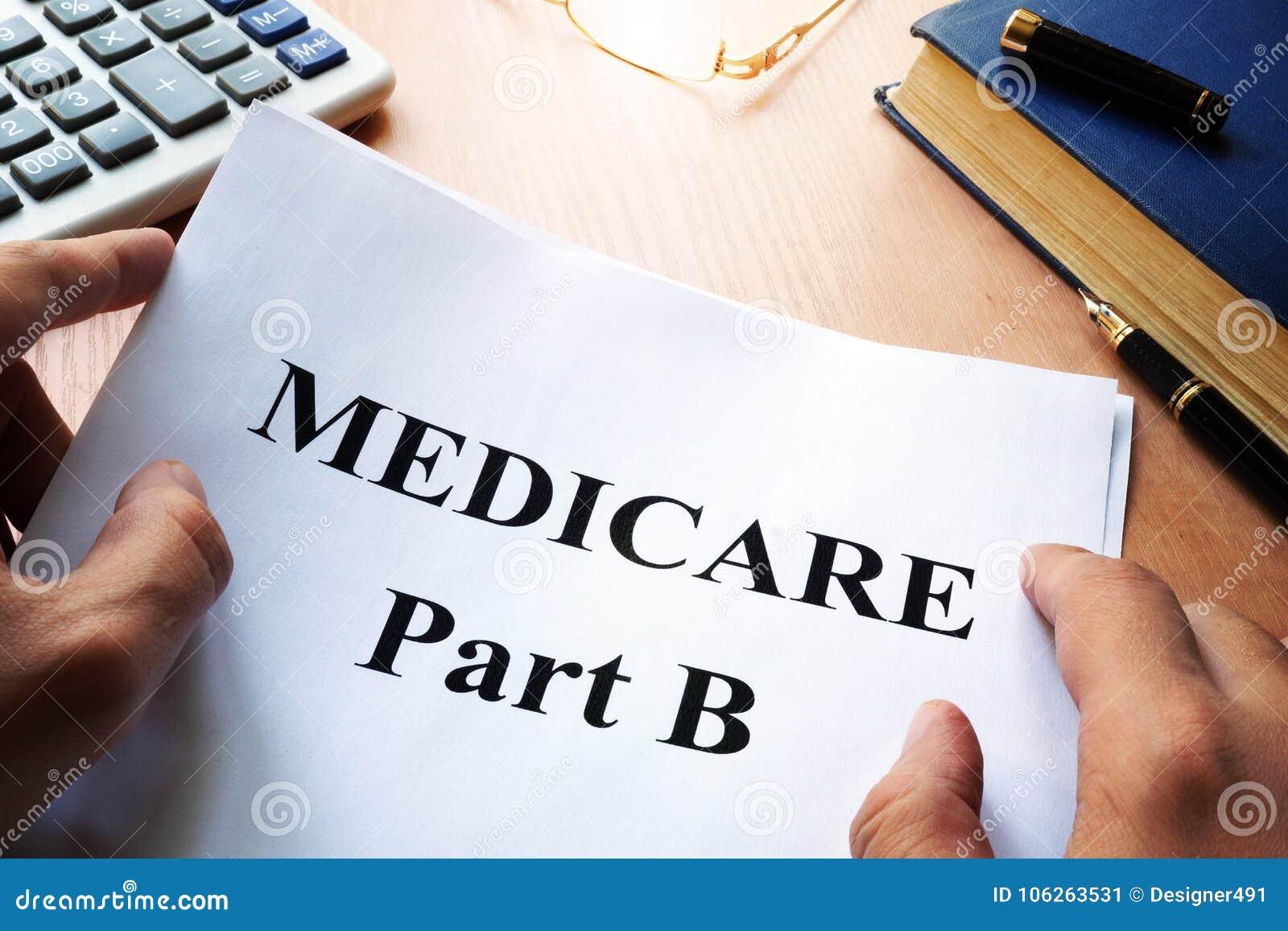 Часть b Medicare на столе