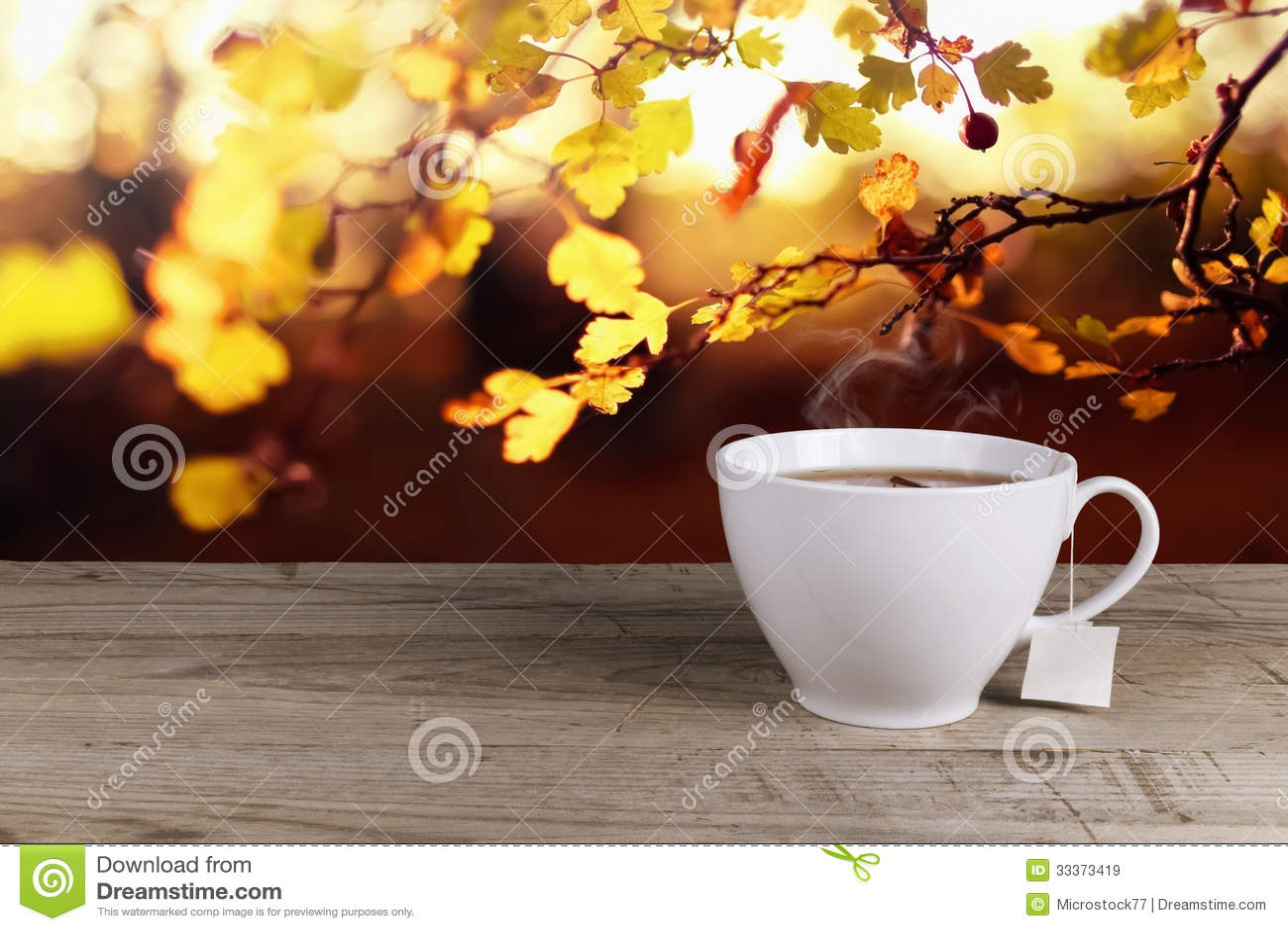 Чашка горячего чая