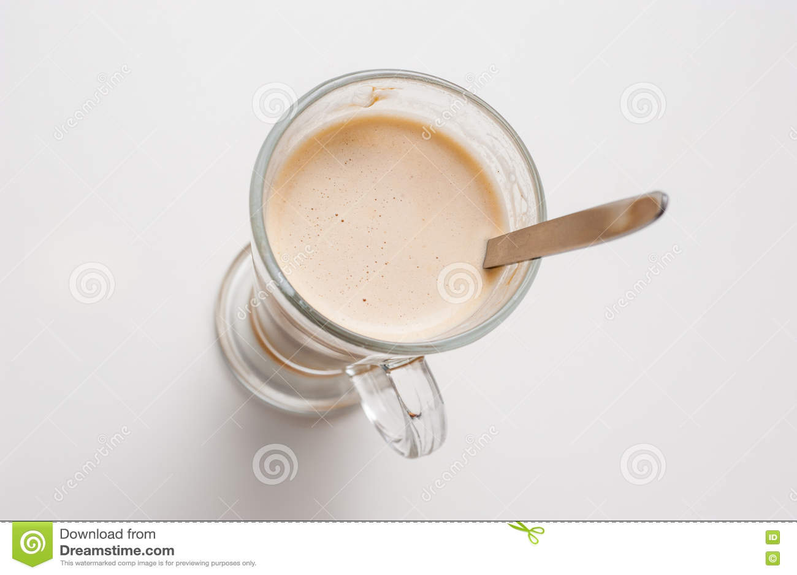 Чашка кофе, взгляд сверху