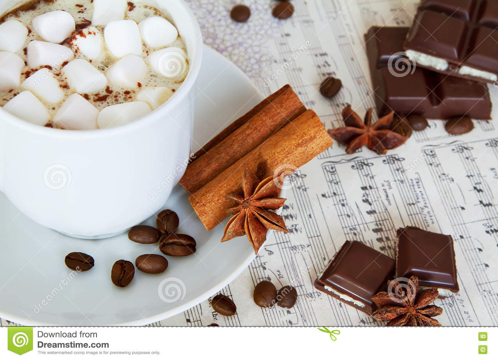 зима кофе фото