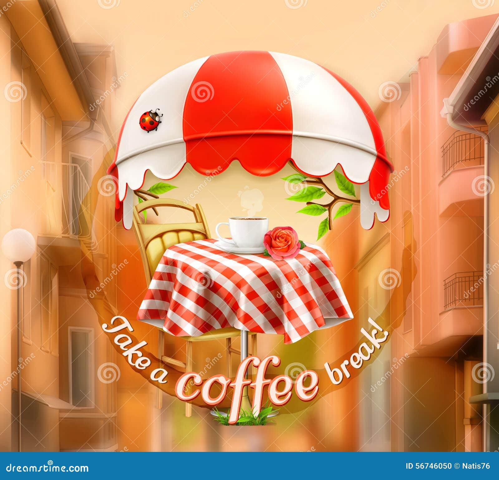 Чашка кофе с подняла на таблицу в кафе