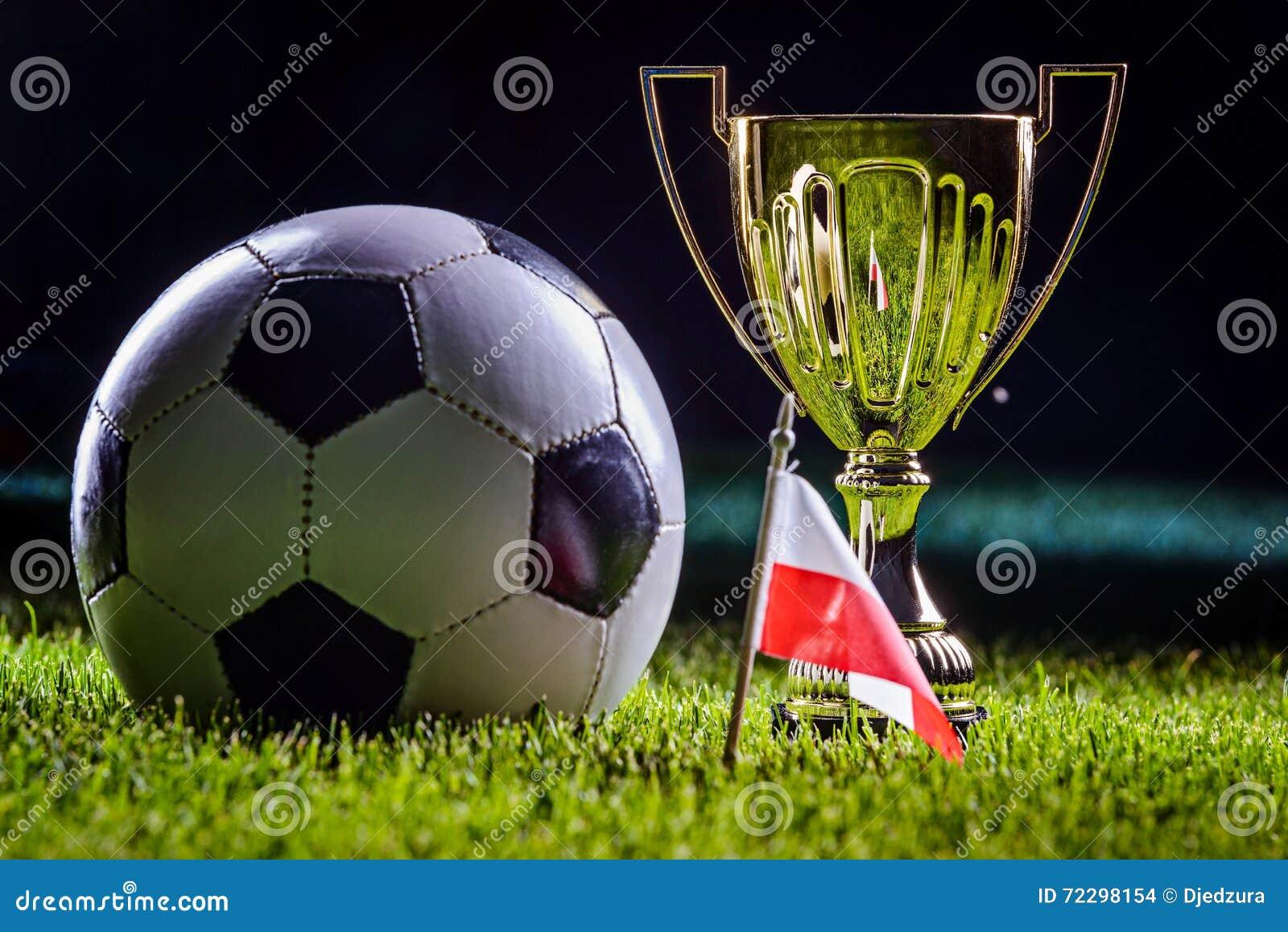 Download Чашка футбола и польский флаг Стоковое Фото - изображение насчитывающей спичка, поле: 72298154