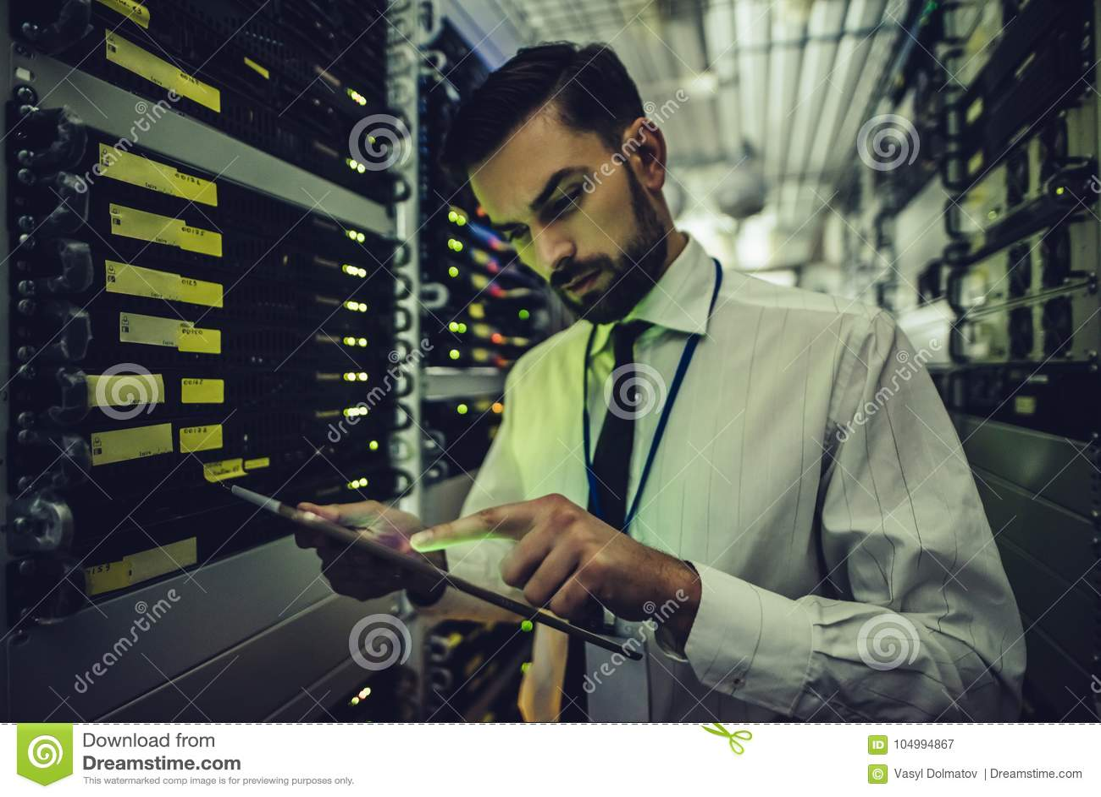 Человек в центров обработки информации