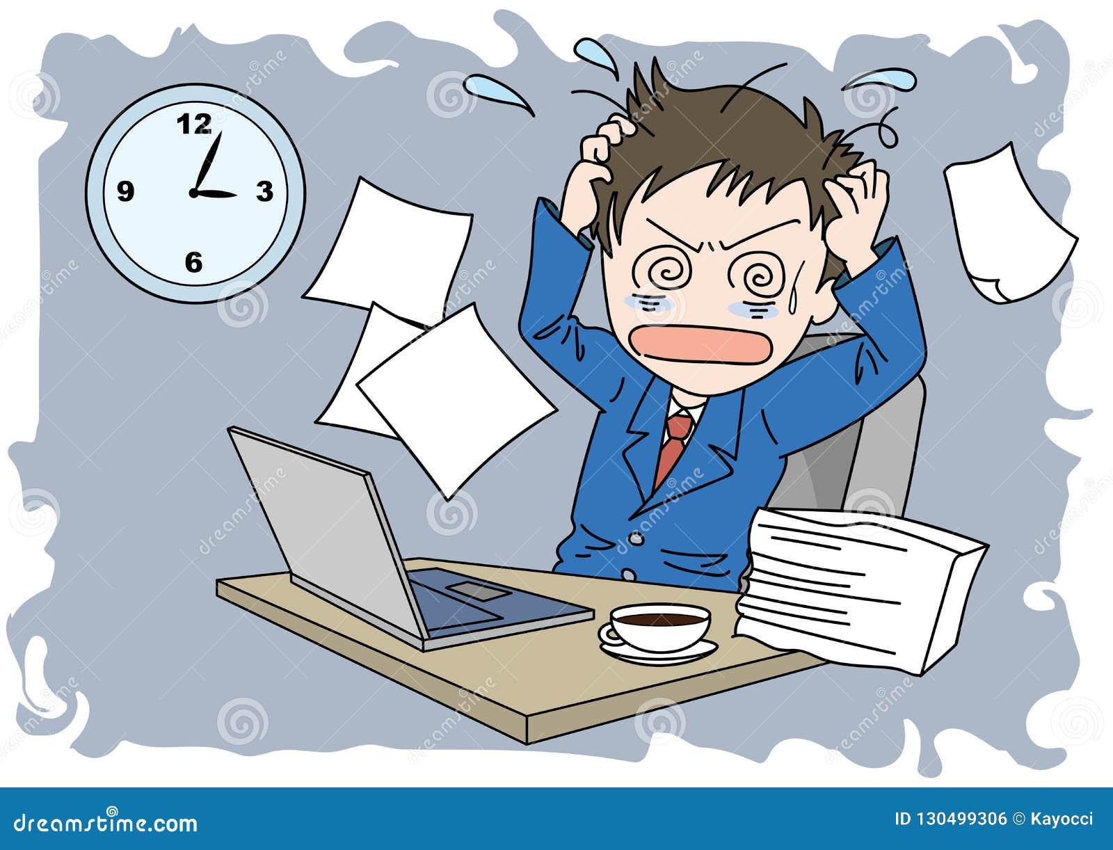 Человек изображения Worktime - запутанность