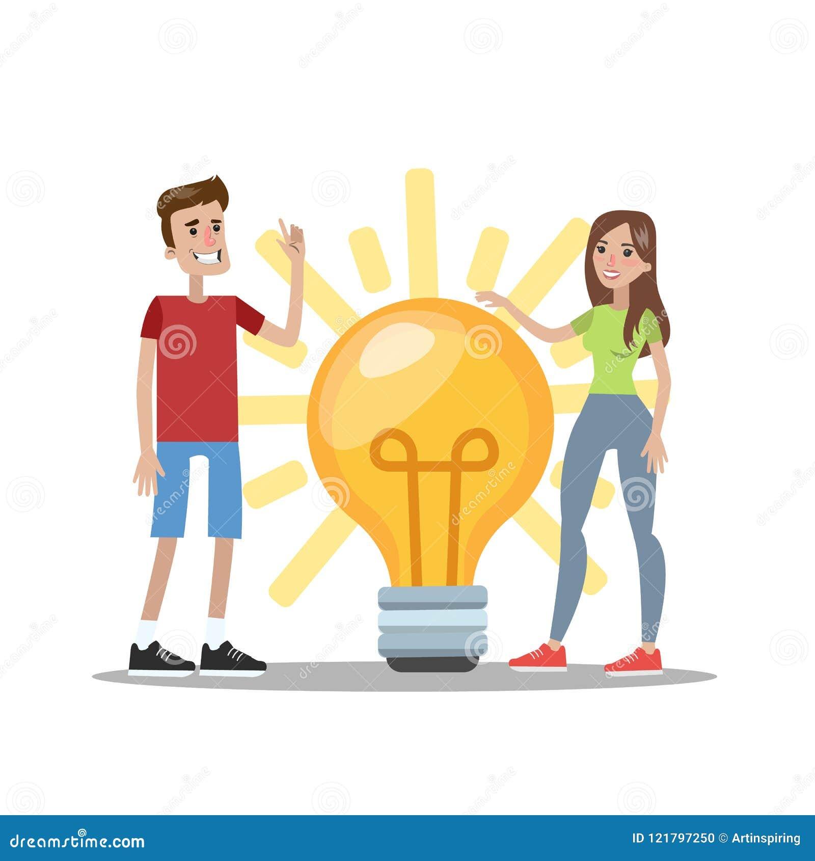 Человек и женщина имеют идею