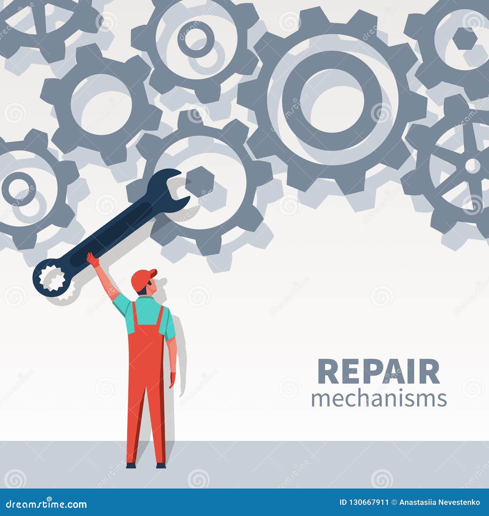 Человек механизмов ремонта