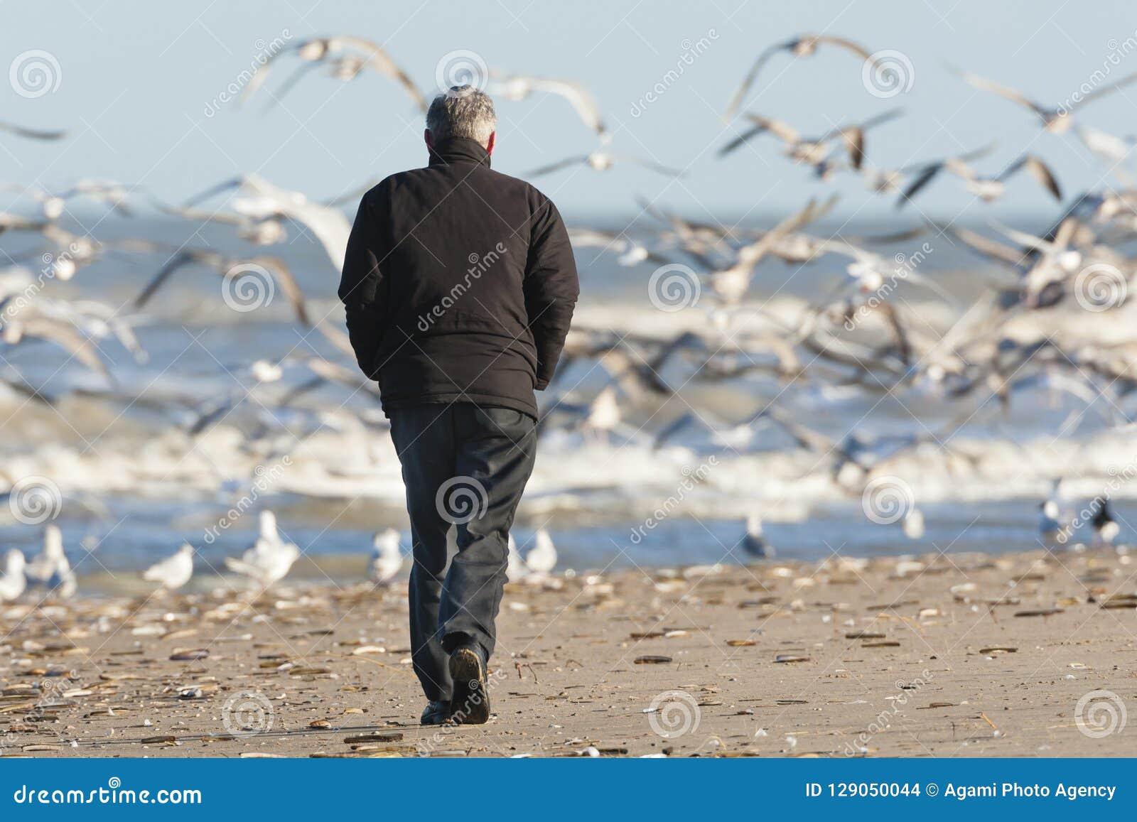 Человек на Katwijk aan Zee