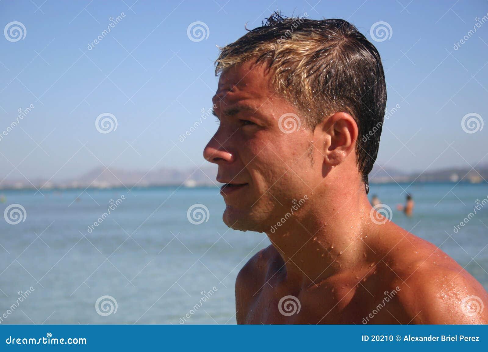 человек пляжа