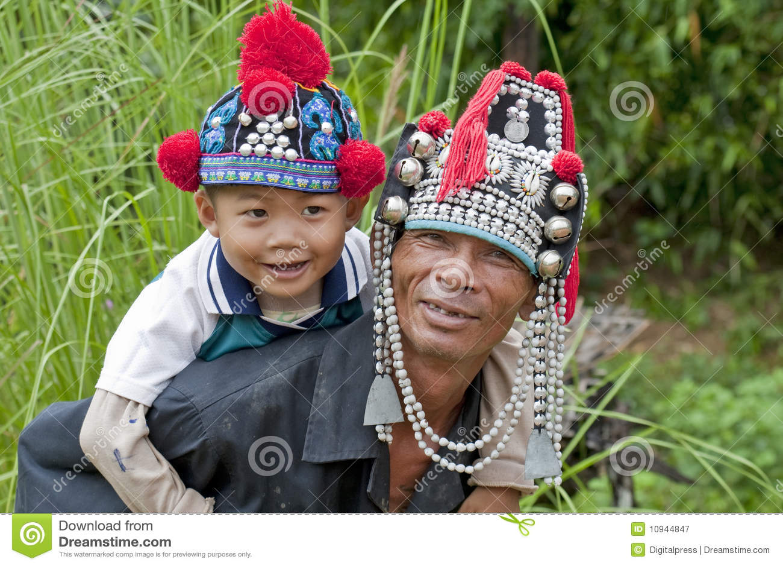 человек ребенка Азии akha