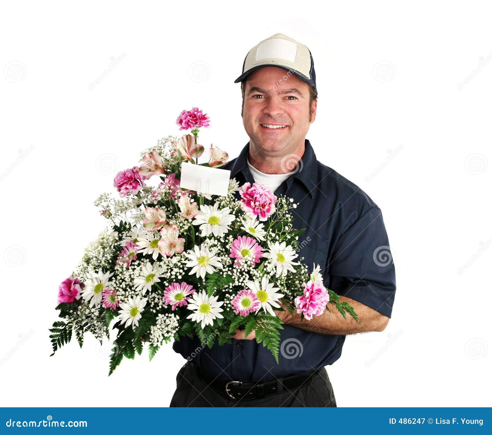 человек цветка поставки содружественный