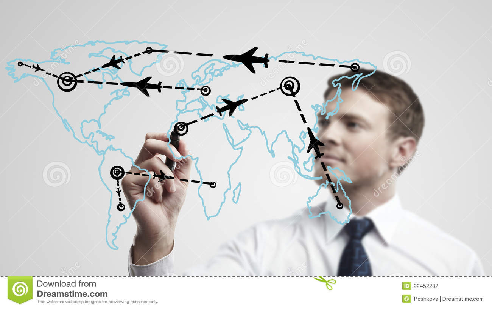 человек чертежа дела самолета направляет детенышей