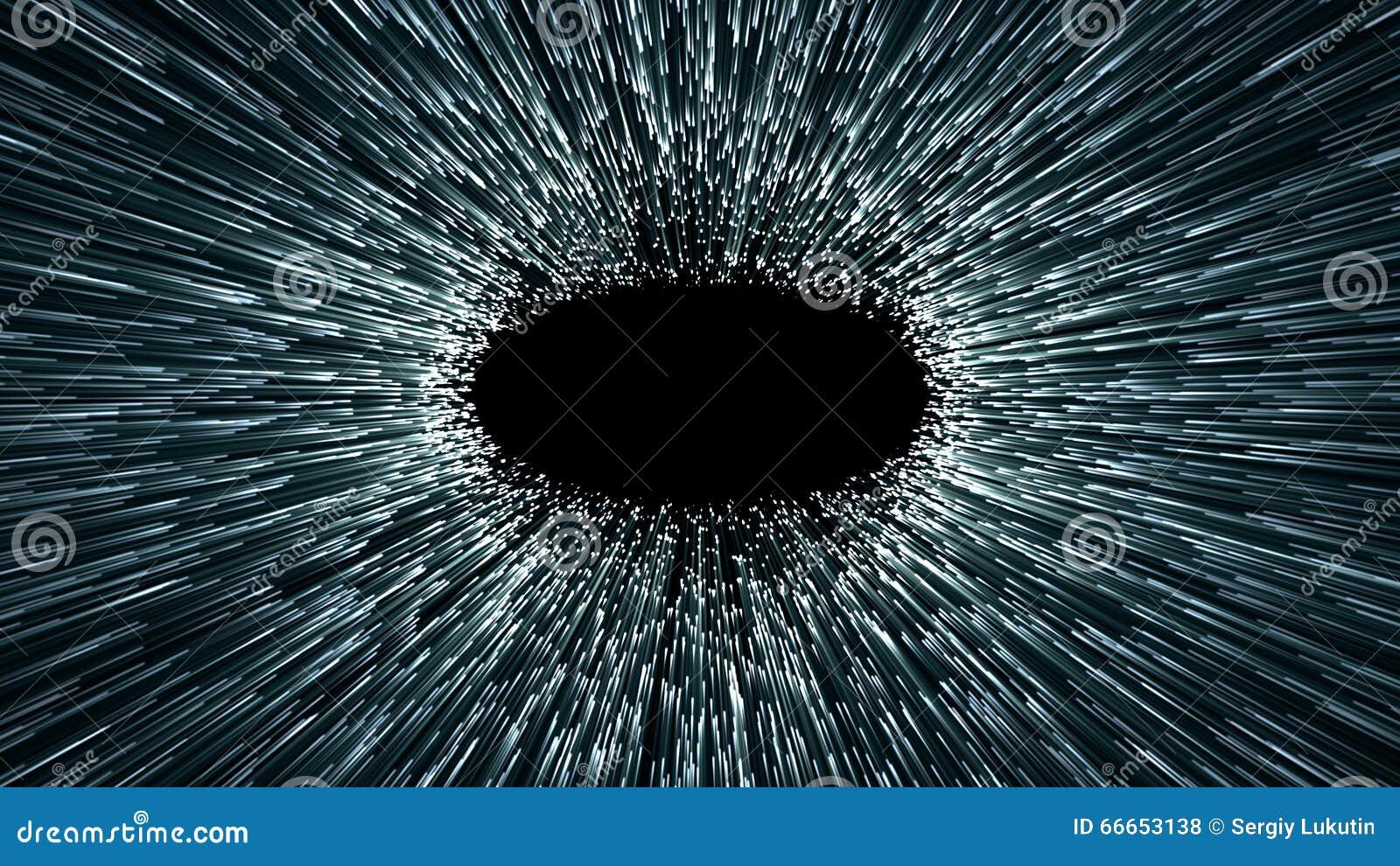 Червоточина, абстрактная сцена fliy в космосе