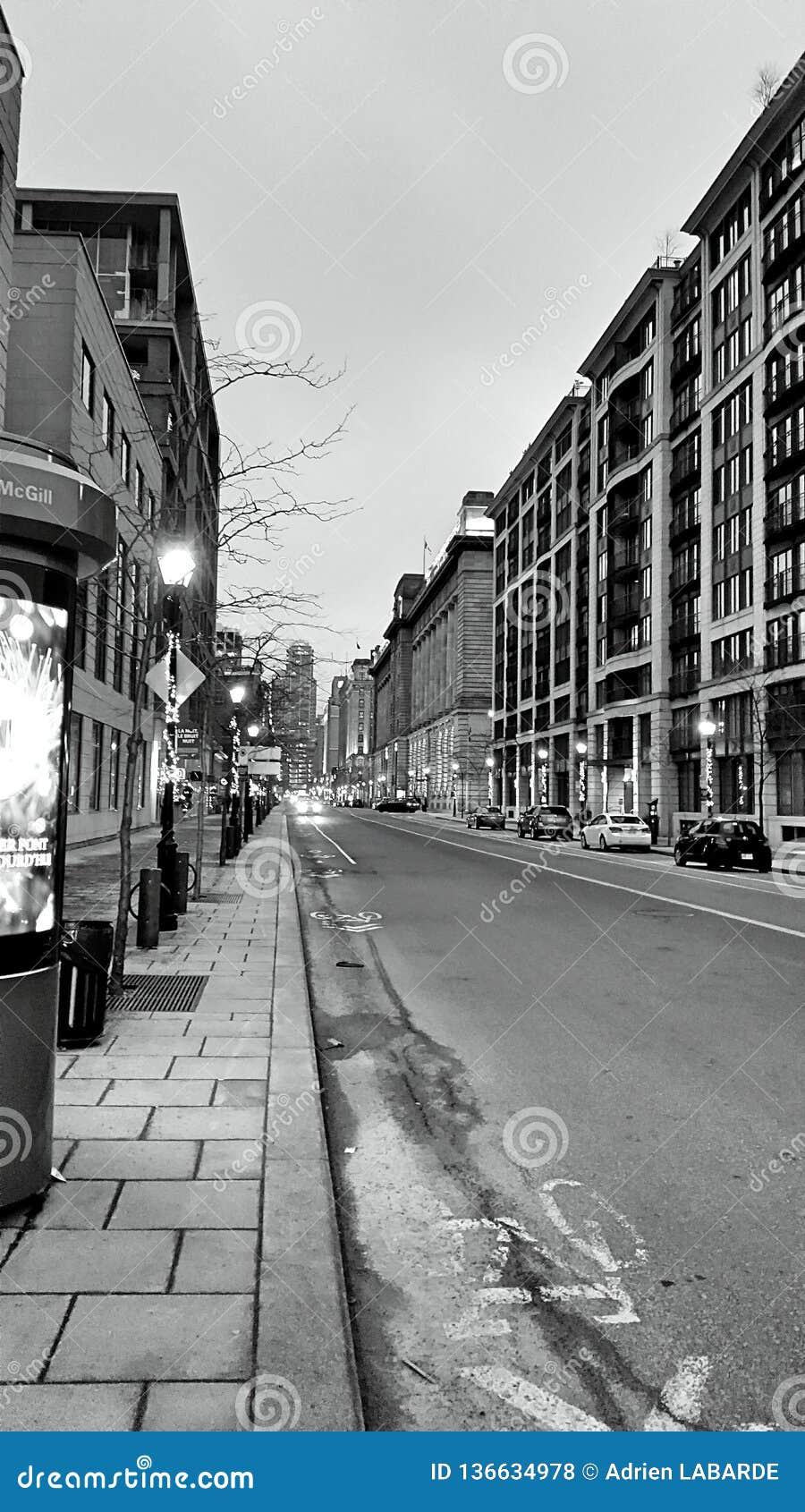 Черная & белая улица