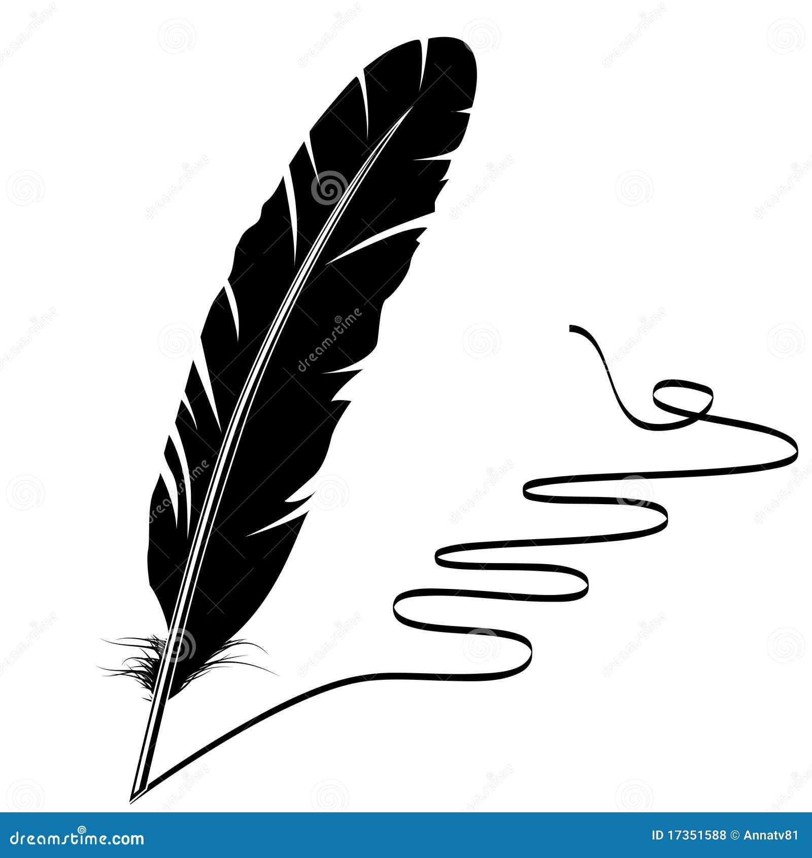 черная белизна flourish пера