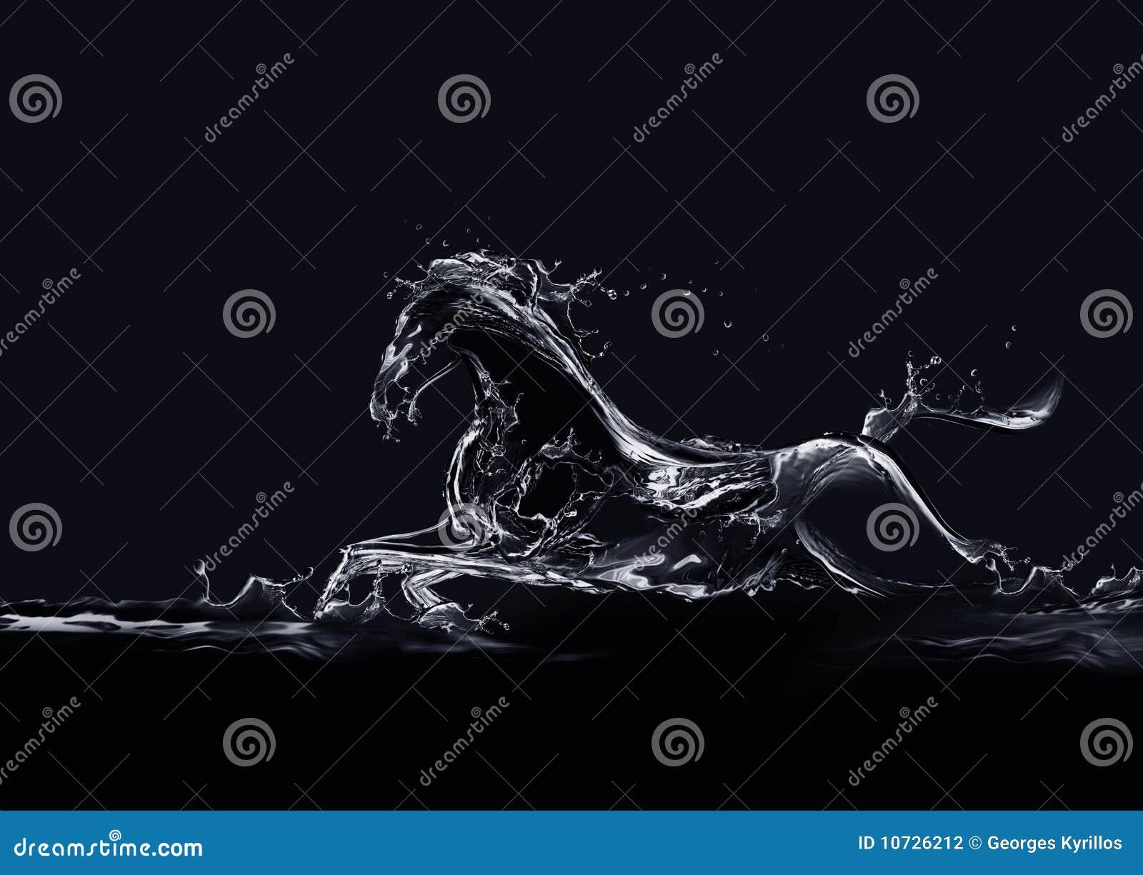 черная вода лошади