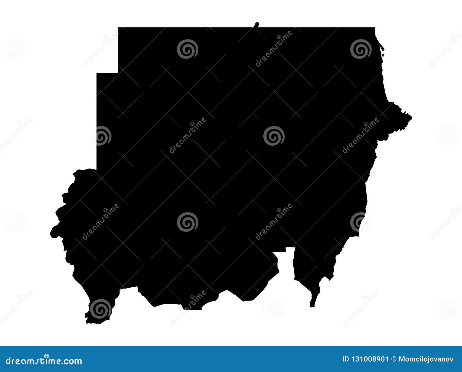 Черная карта Судана