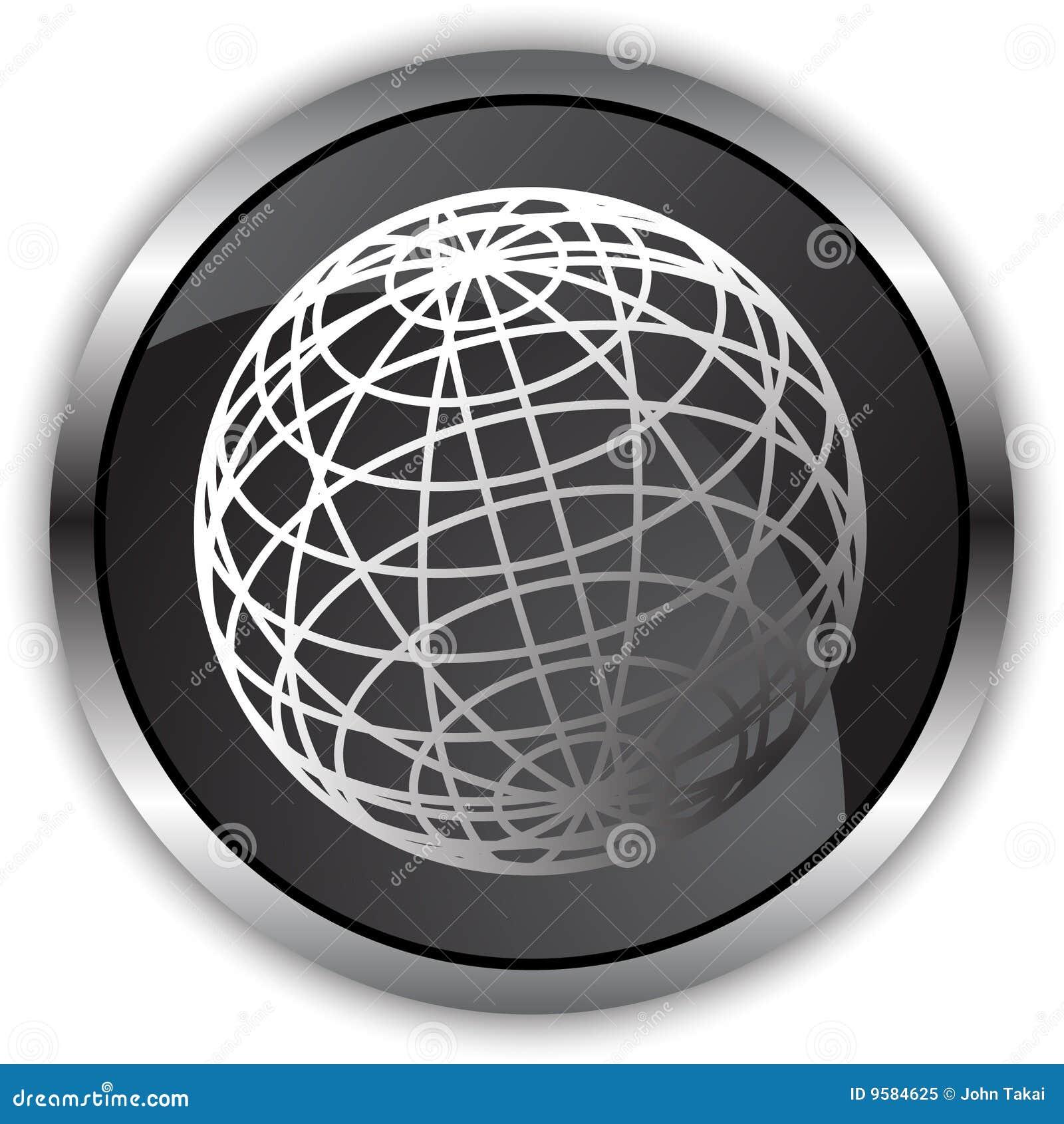 черная сатинировка глобуса