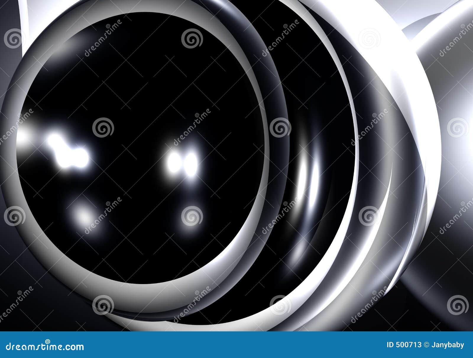 черная сфера серебра metall