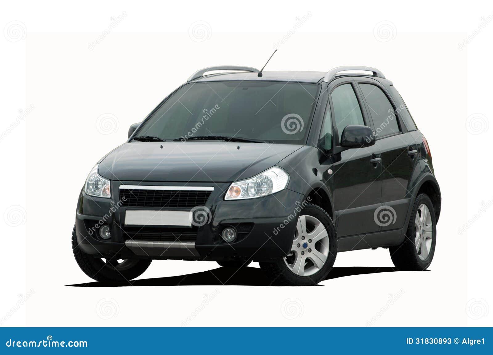 Черное мини SUV