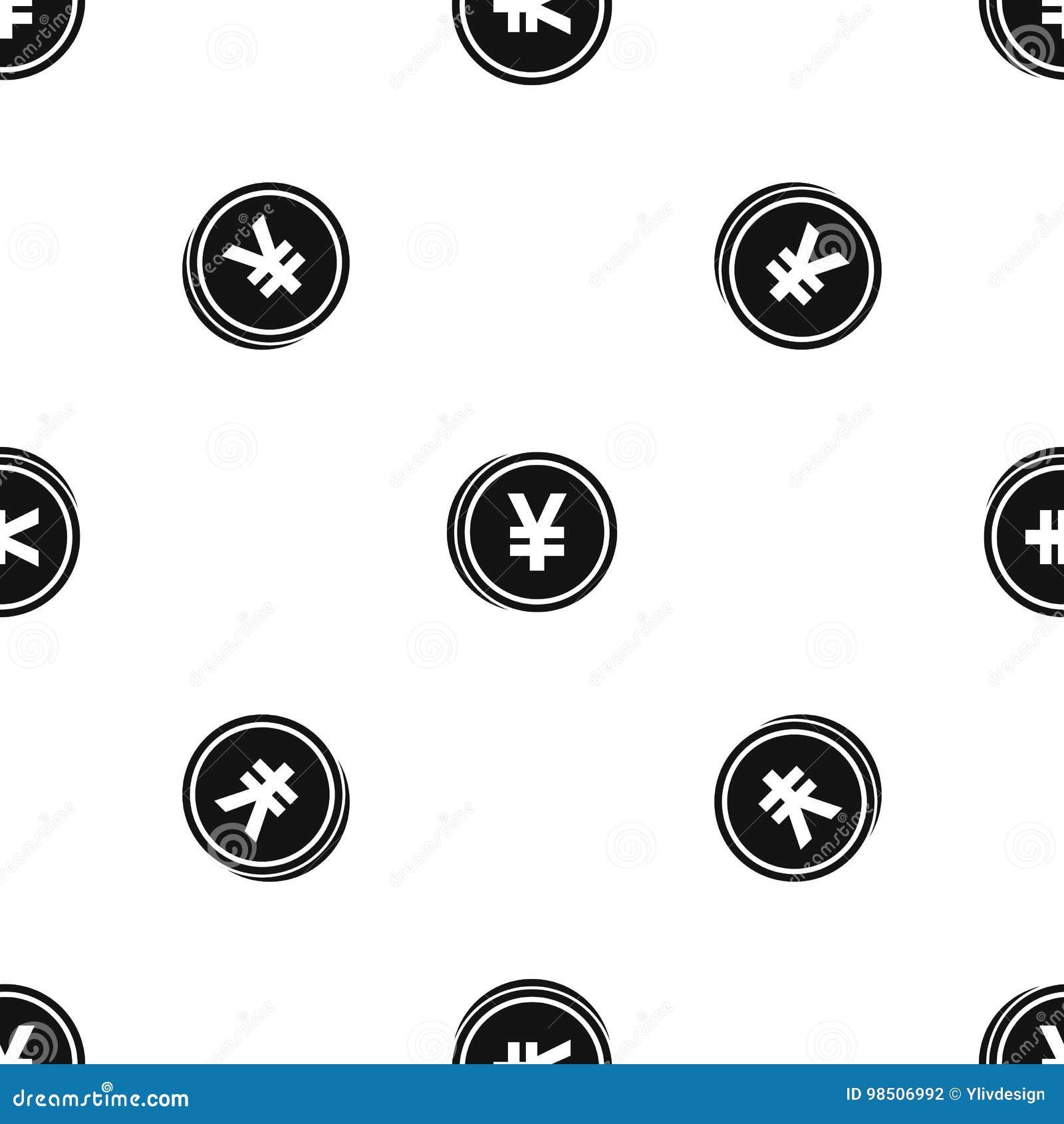 Чернота картины иен монетки безшовная