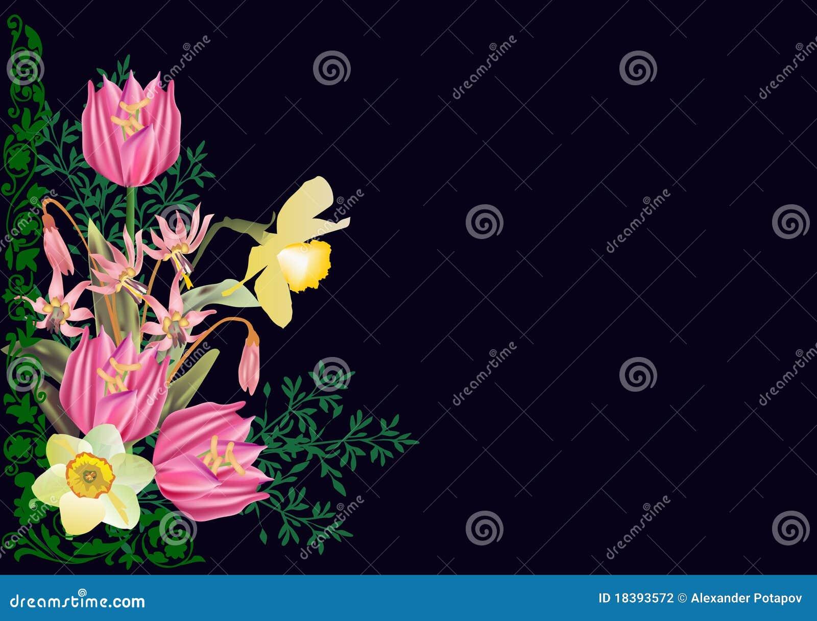 чернота цветет розовый желтый цвет