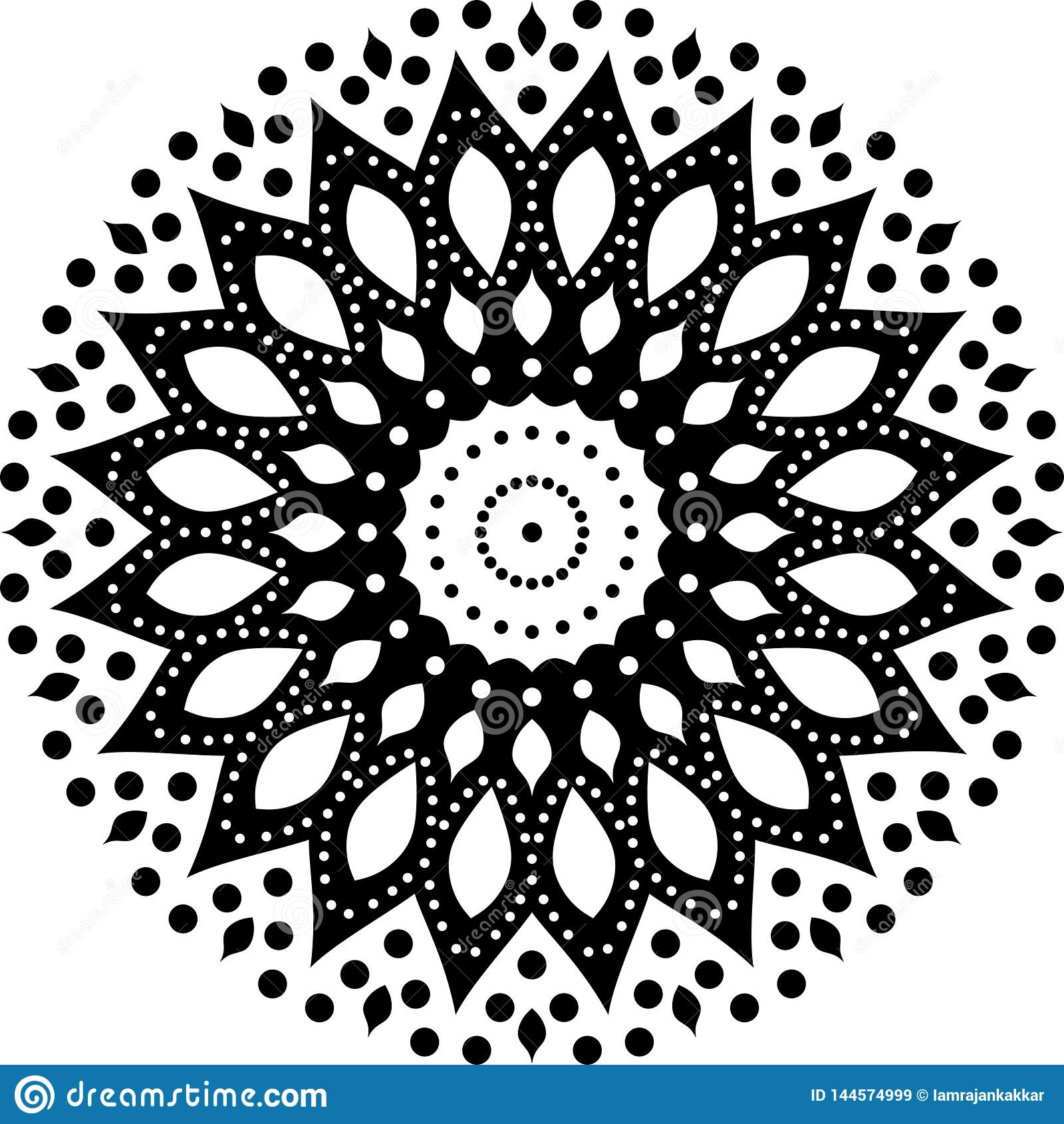 Черно-белые предпосылка мандалы и дизайн обоев