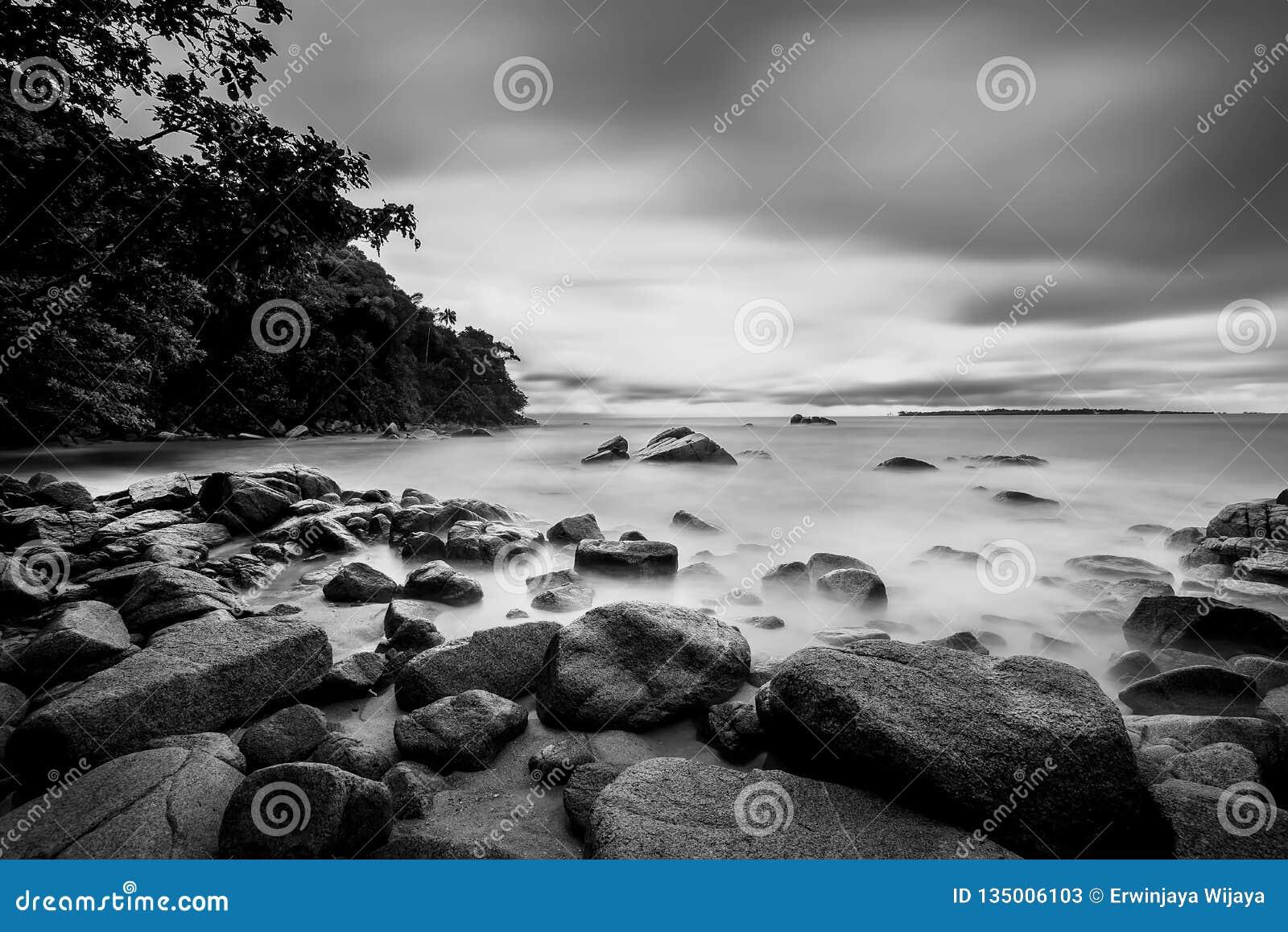 Черно-белые фото на островах Batam Bintan
