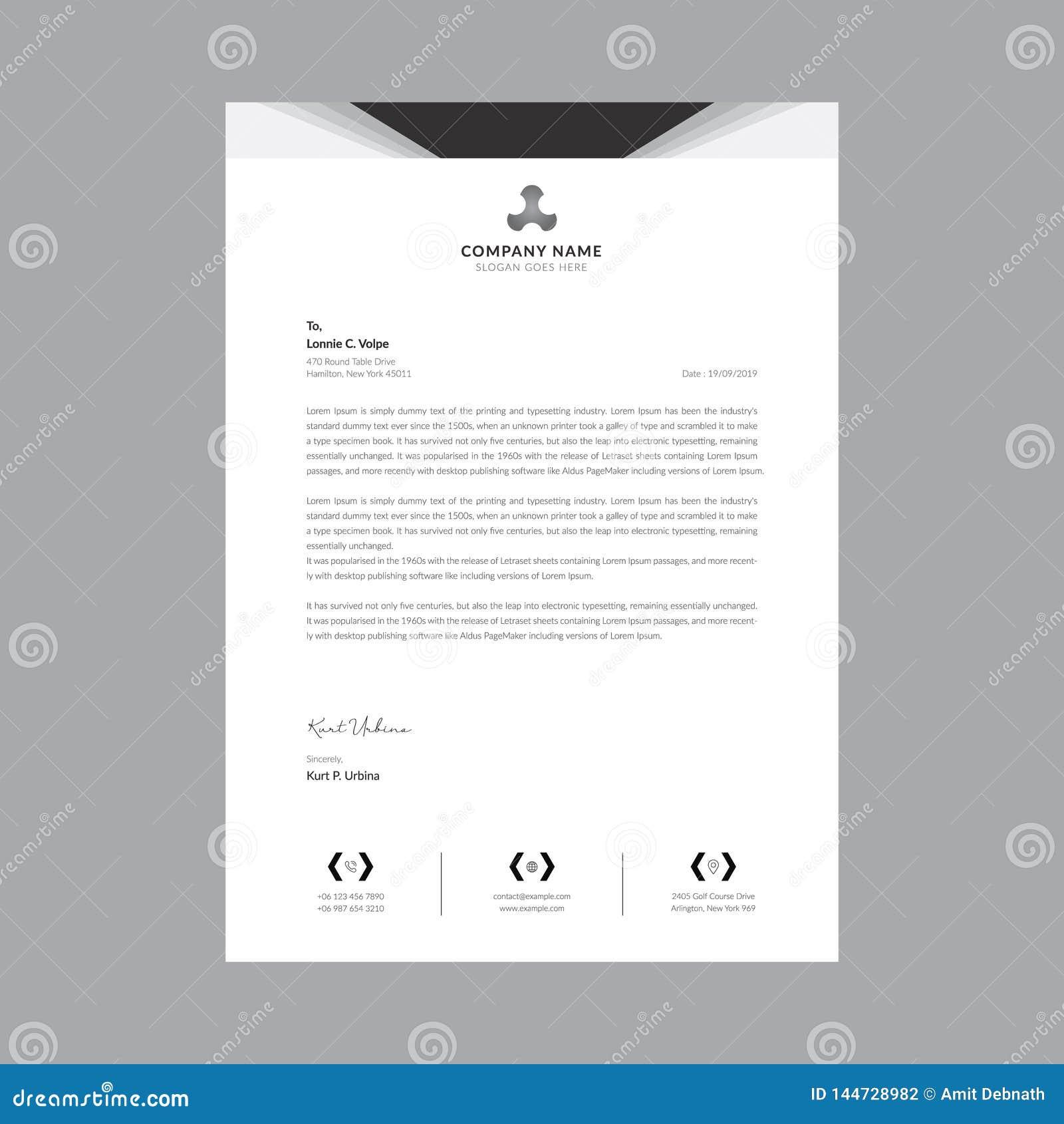 Черно-белые шаблоны letterhead дела