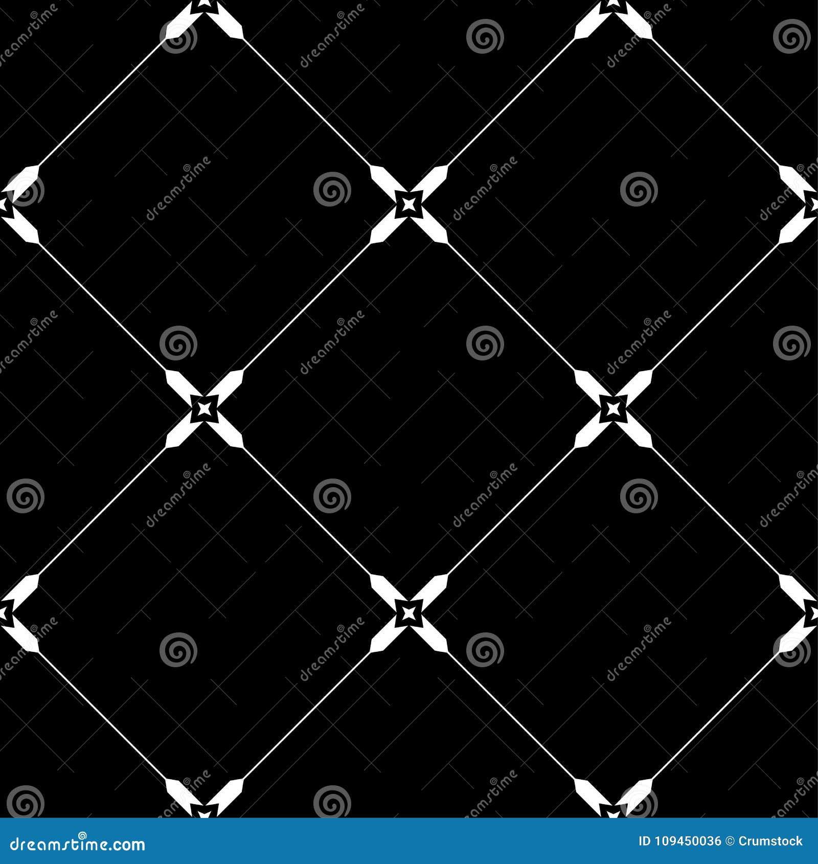 Черно-белый геометрический орнамент картина безшовная