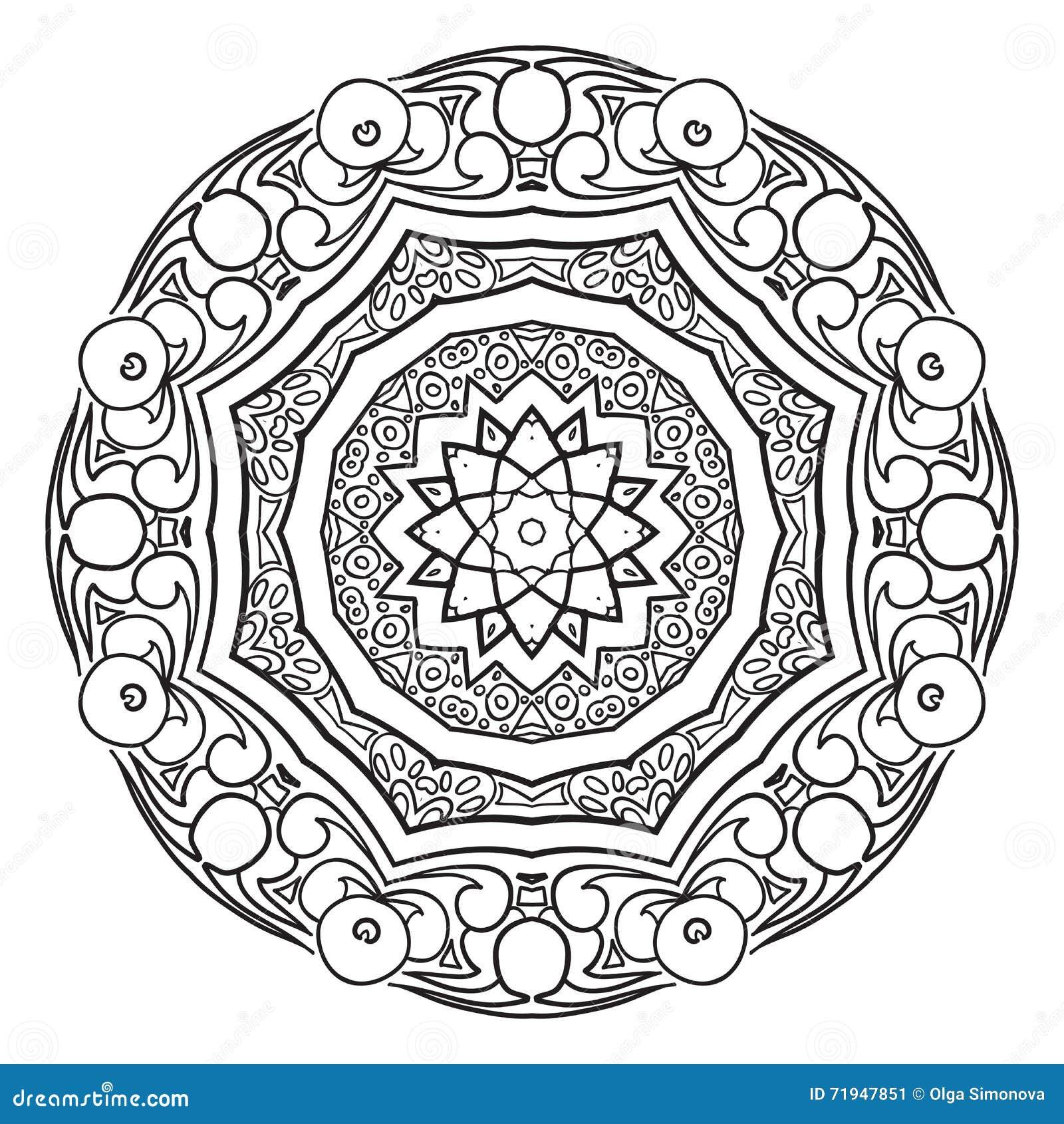 Черно-белая абстрактная круговая картина
