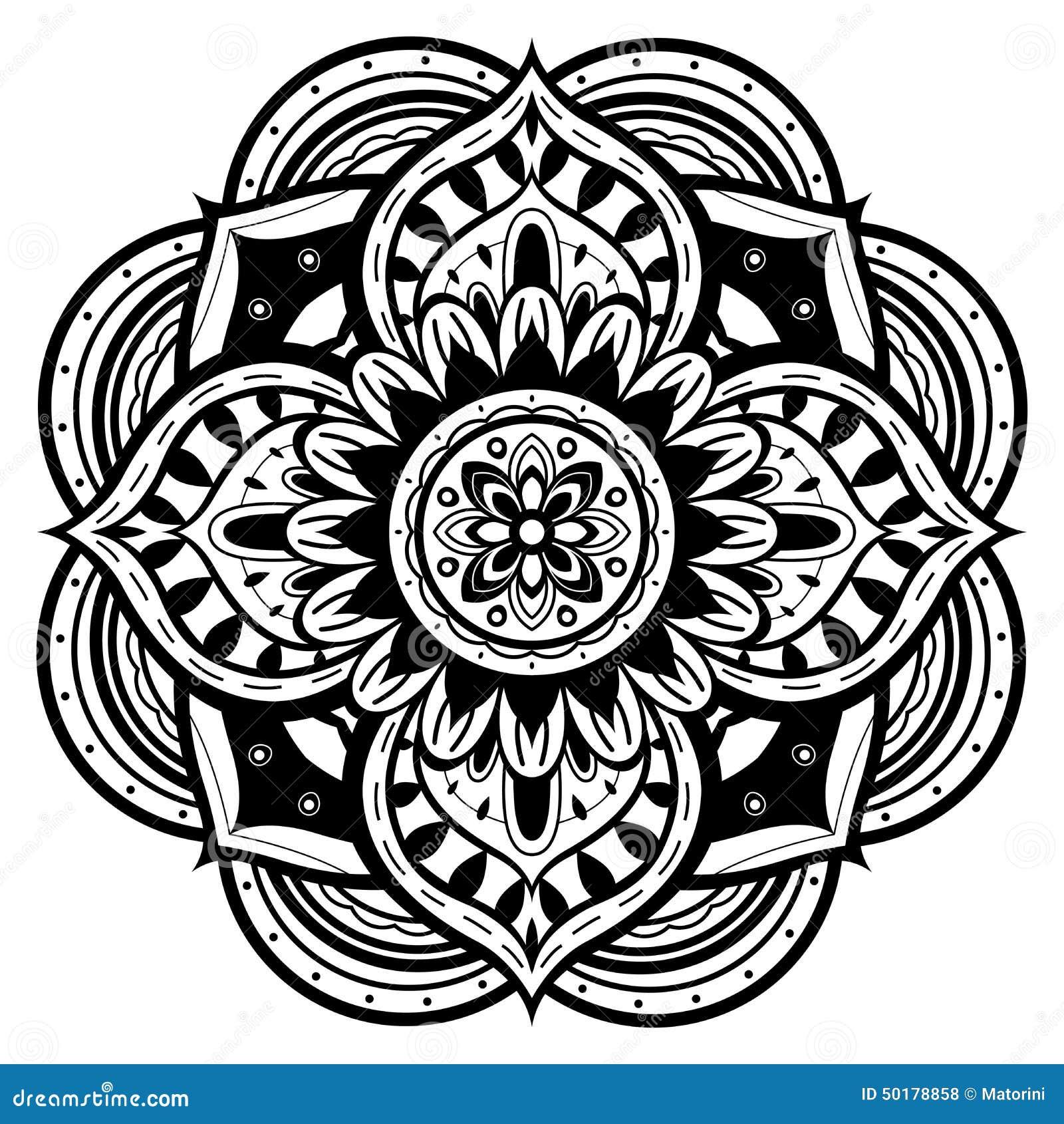 Mandala Phone Wallpaper Black and White  Phone wallpapers