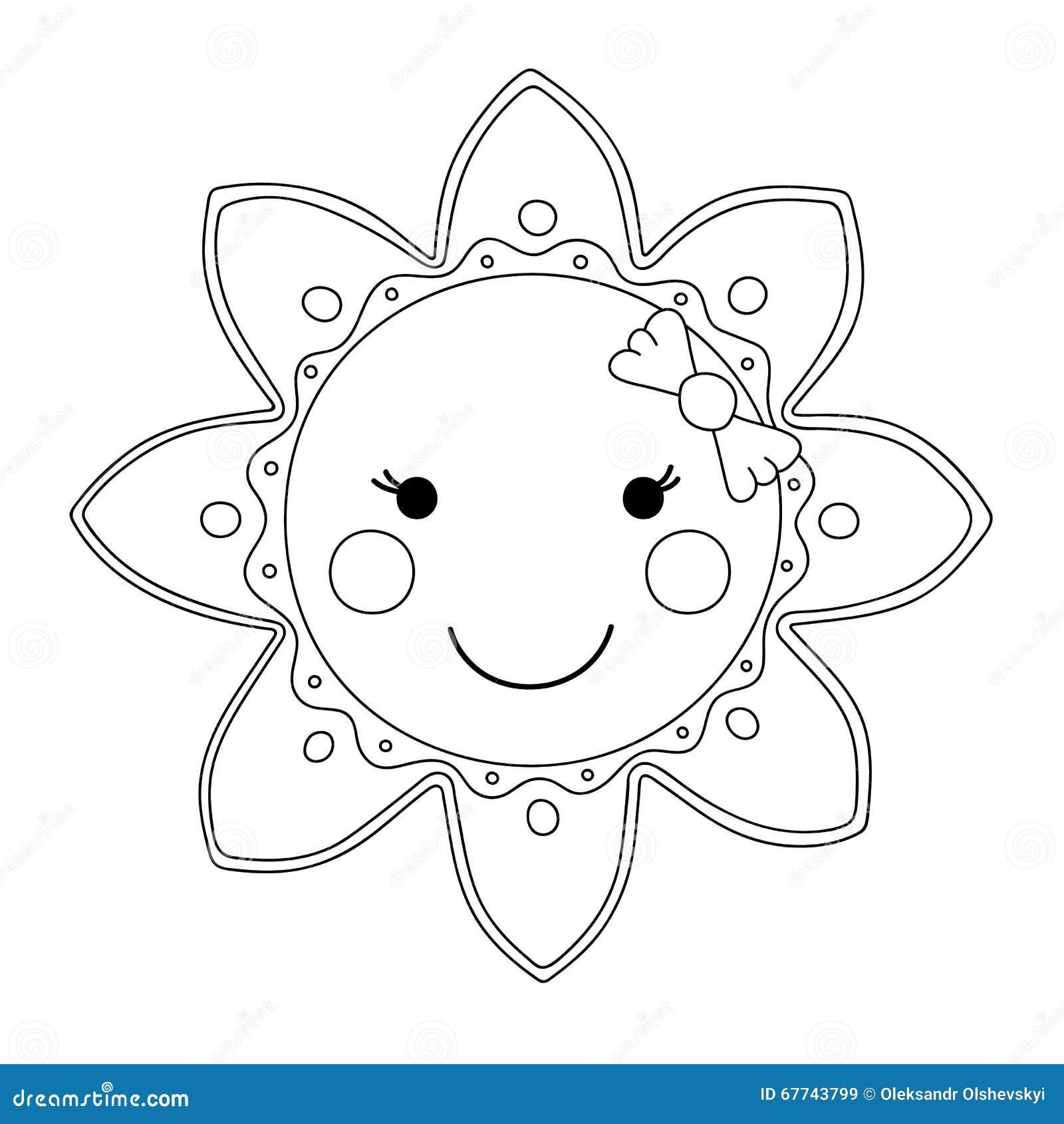 солнце картинка черно белая