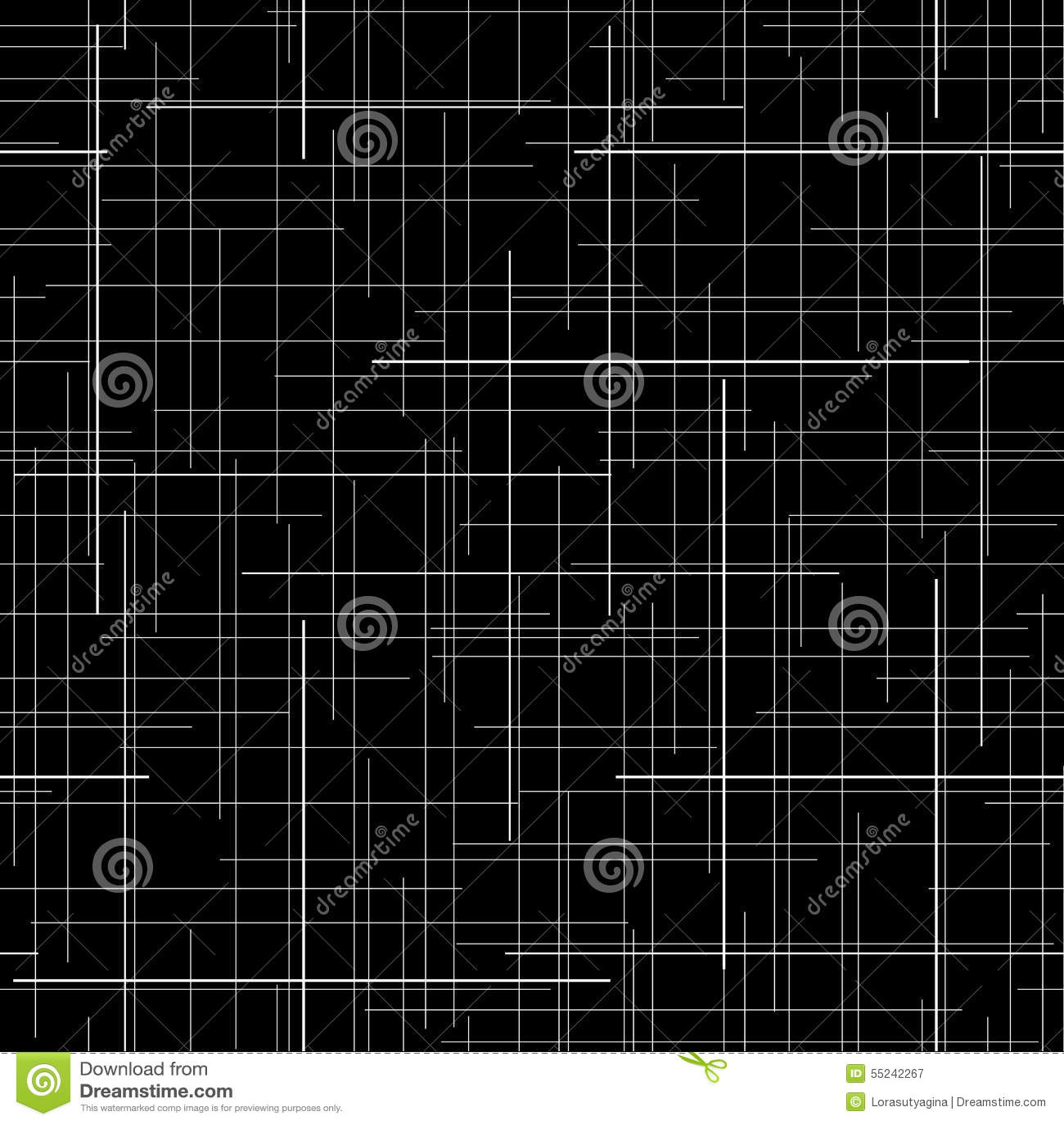 Черно-белый абстрактный фон текстура ткани шотландки выравнивает случайное картина безшовная