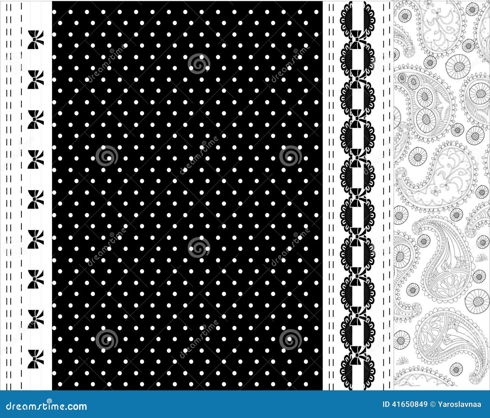 Черно-белый дизайн вектора шнурка