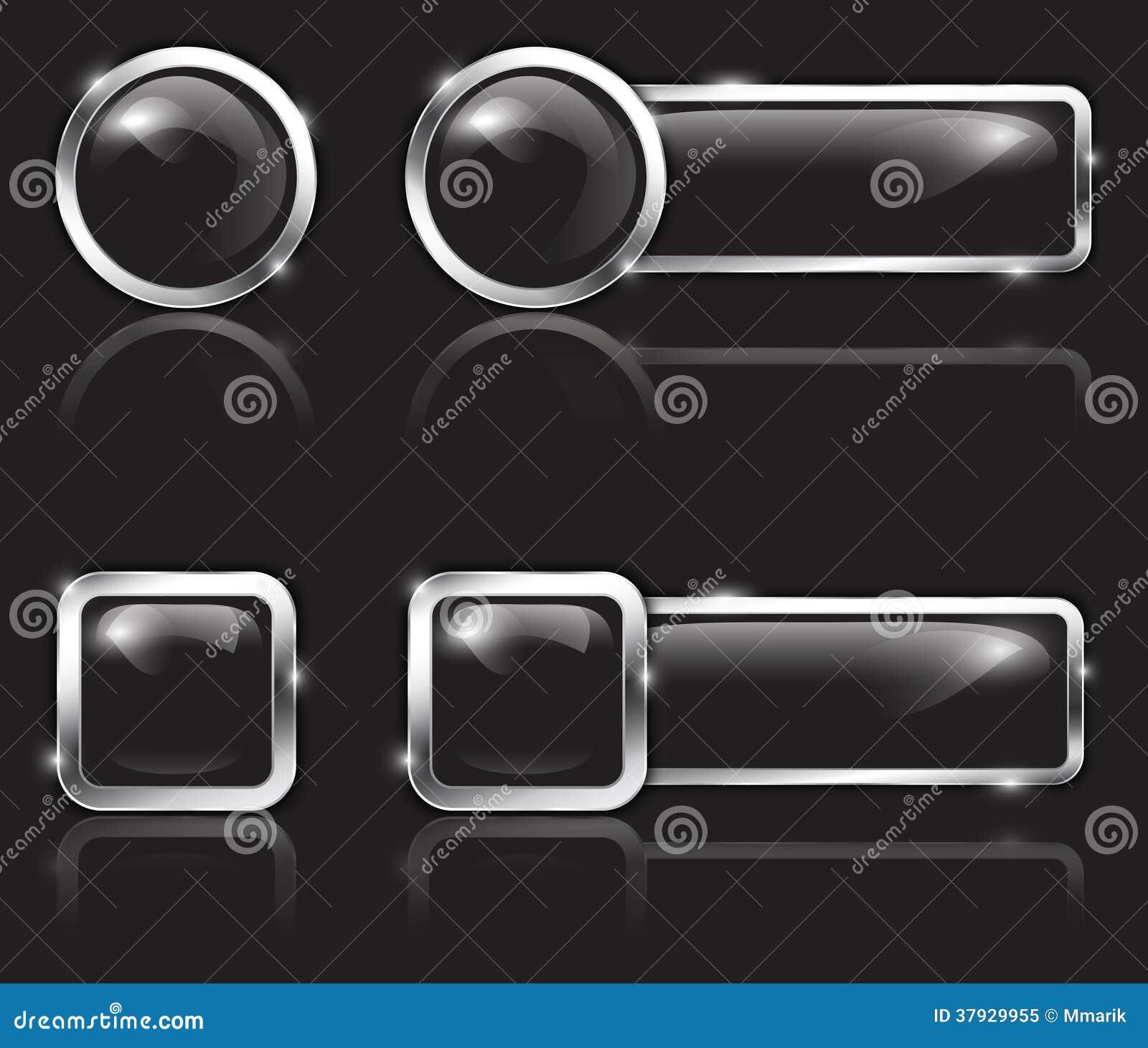 Черные кнопки