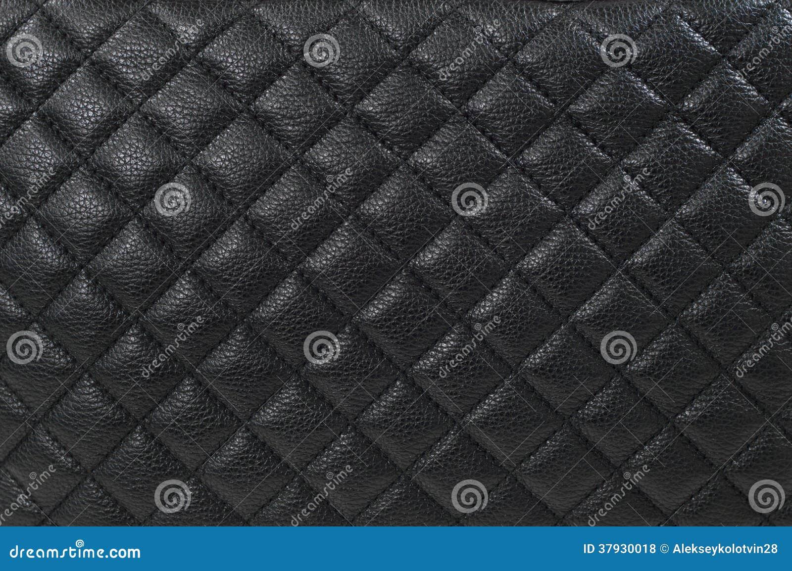 Черные кожаные предпосылка/текстура