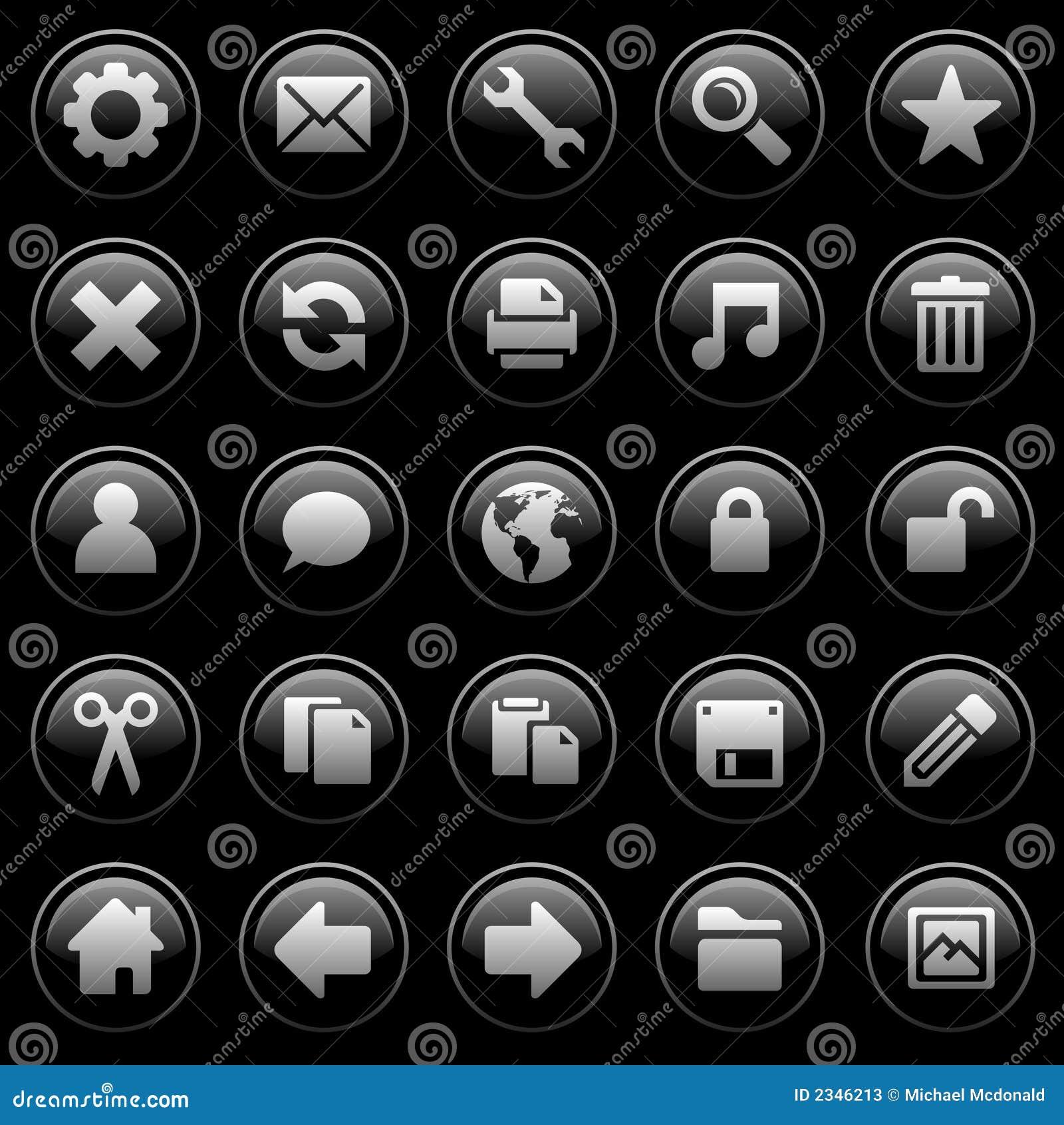 черные лоснистые иконы
