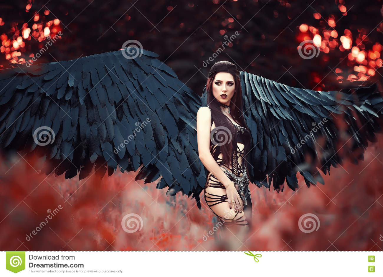 Фото девушки черного ангела
