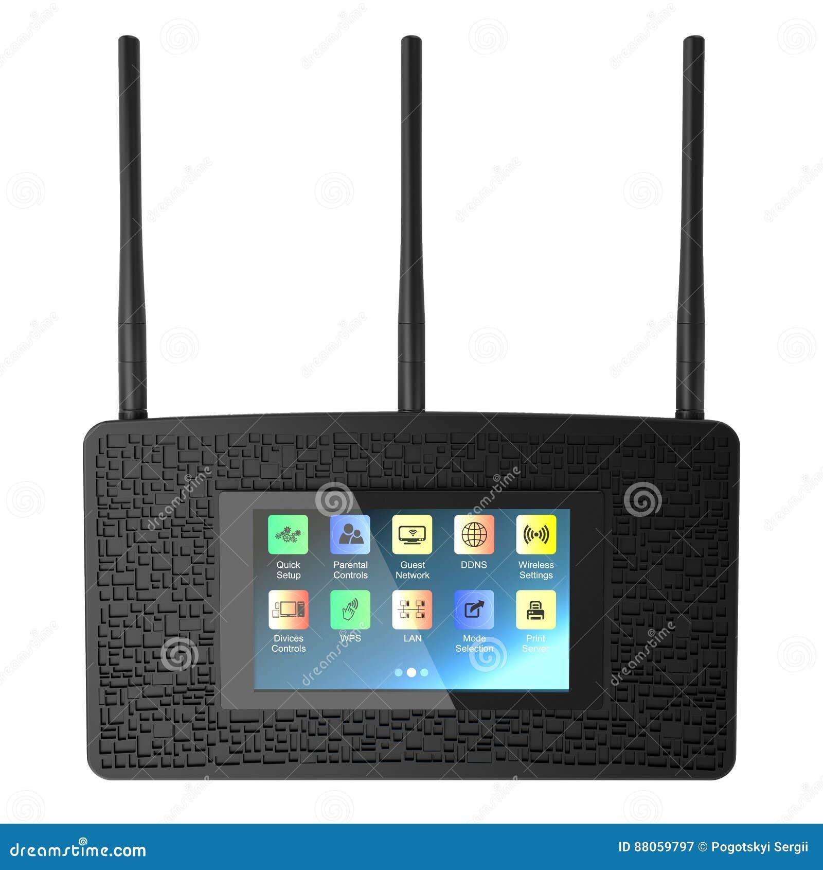 Черный беспроволочный маршрутизатор Wi-Fi