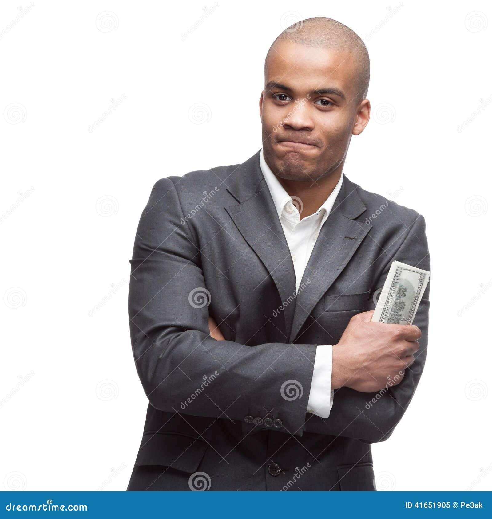 черный бизнесмен