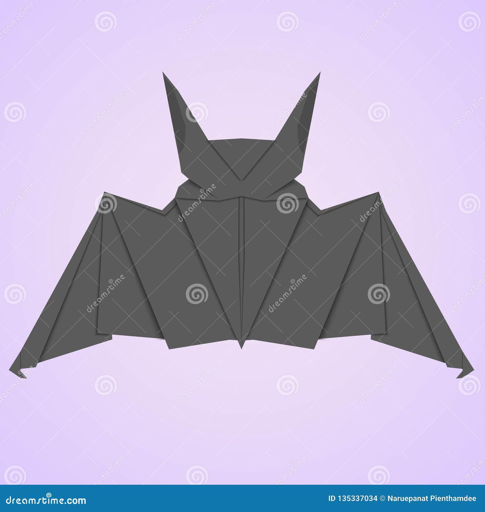 Черный бумажный стиль летучей мыши 3D