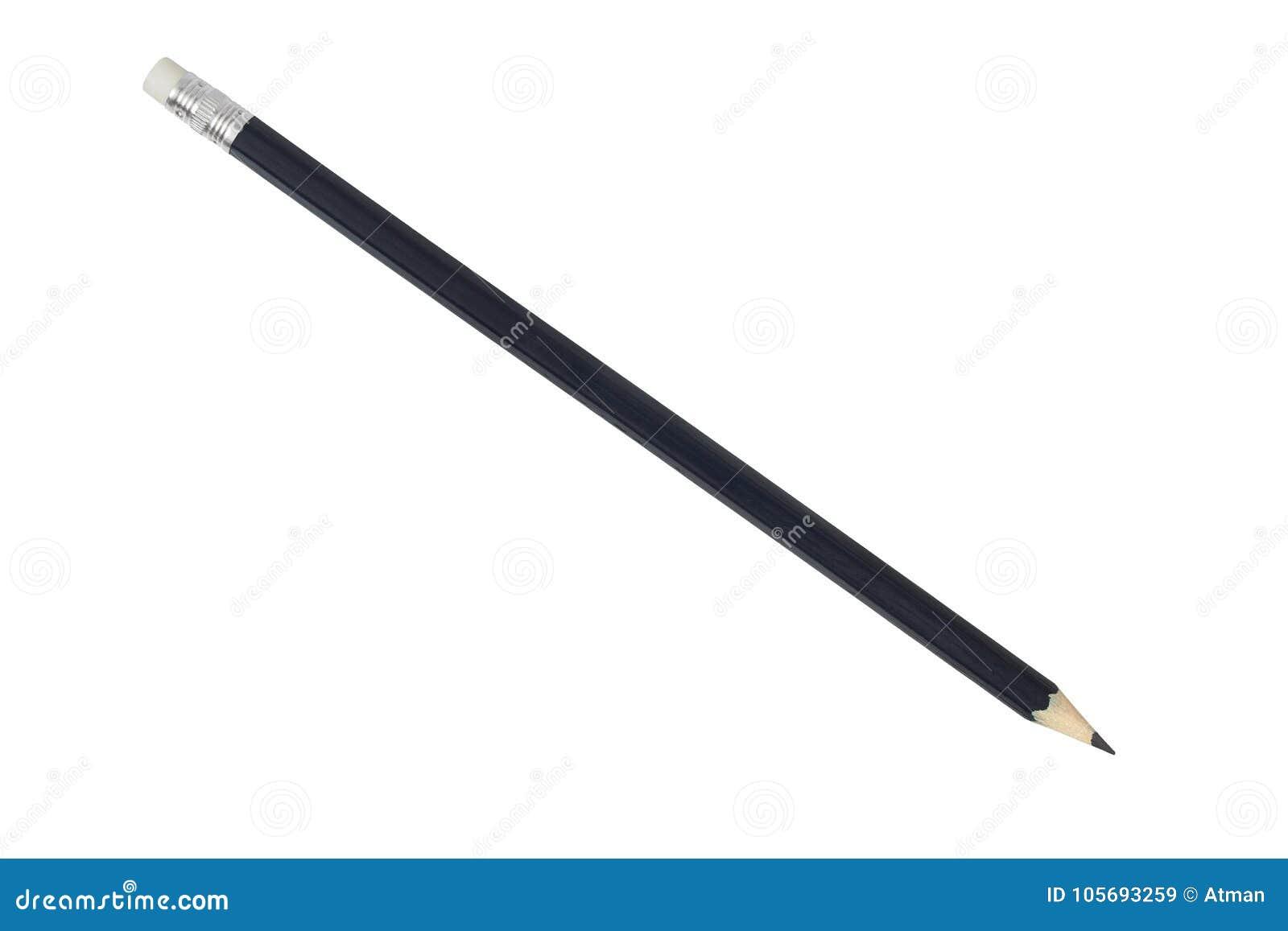 Черный карандаш на белизне