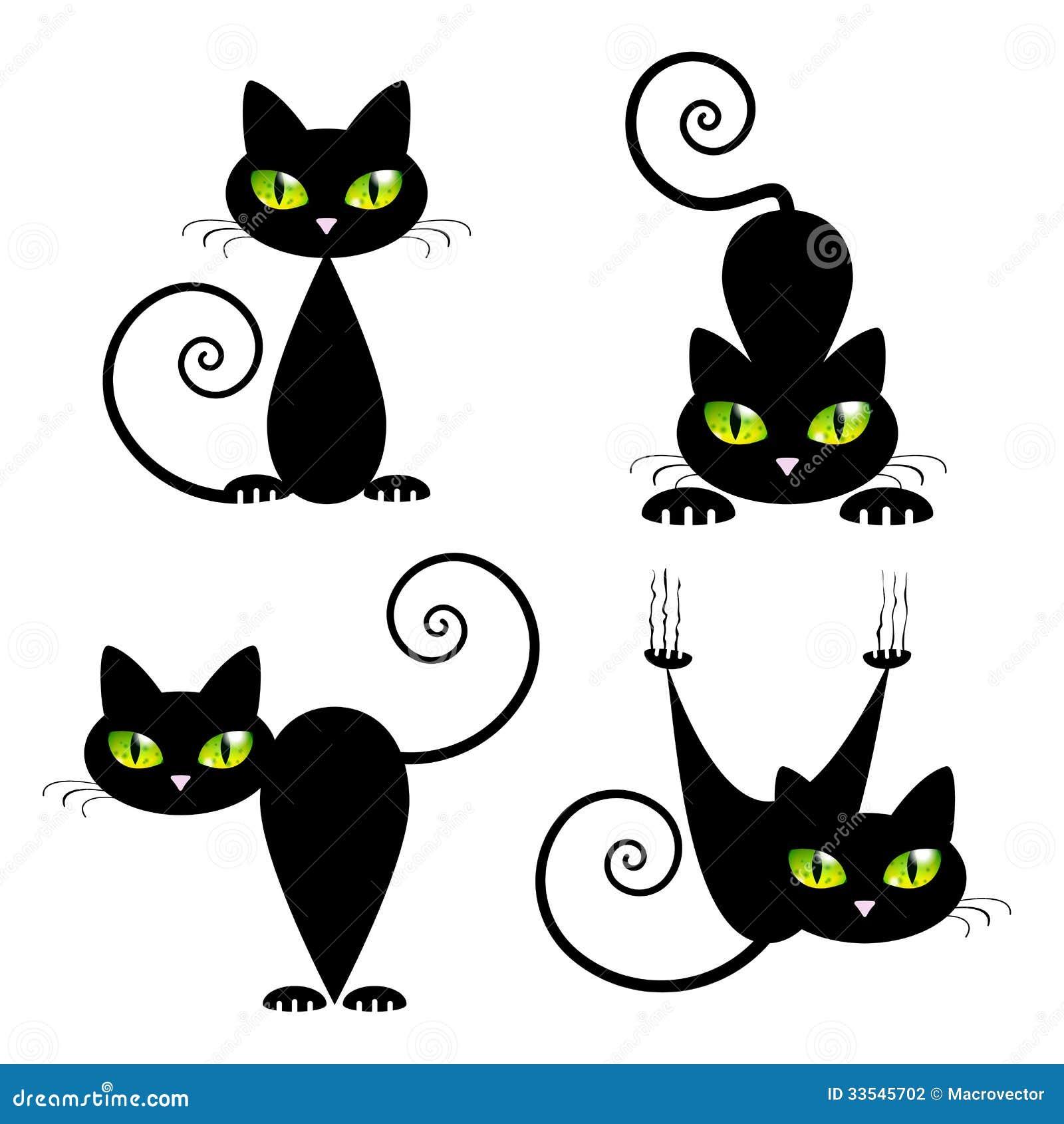 Рисуем черно белого кота