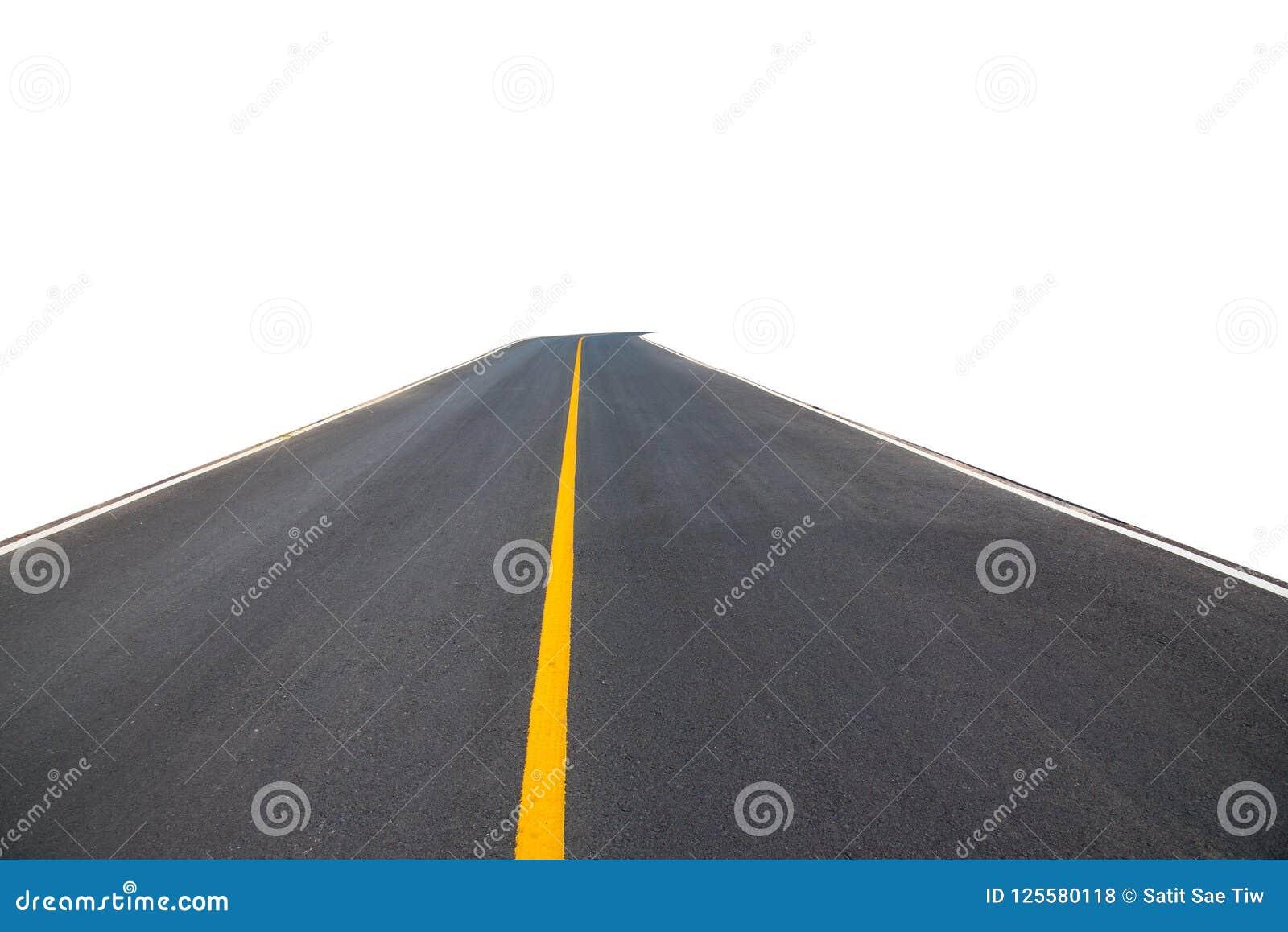 Черный переход извилистой дороги асфальта, путь клиппирования